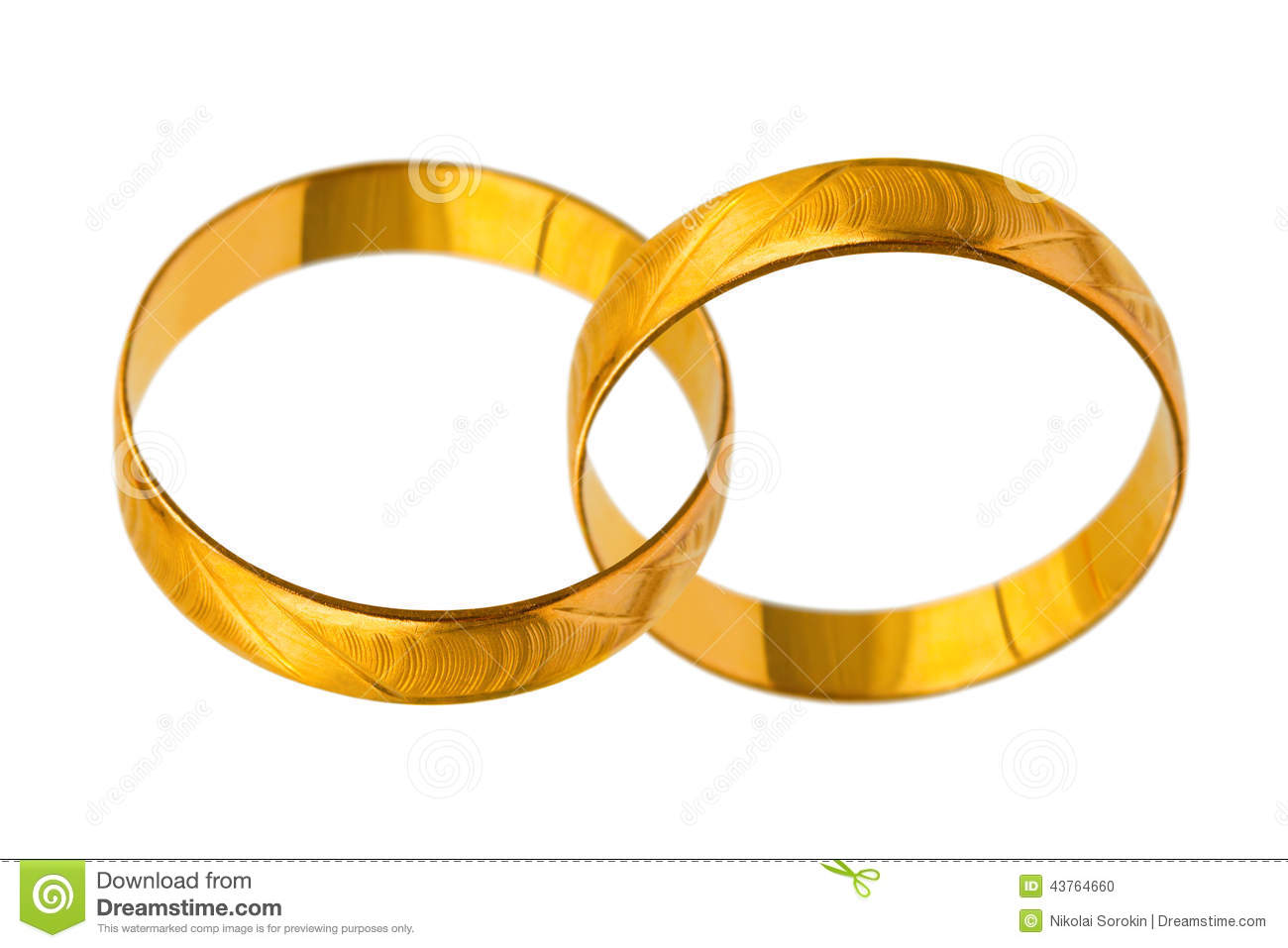 Connected Wedding Rings Stock Photo Image Of Pair Close