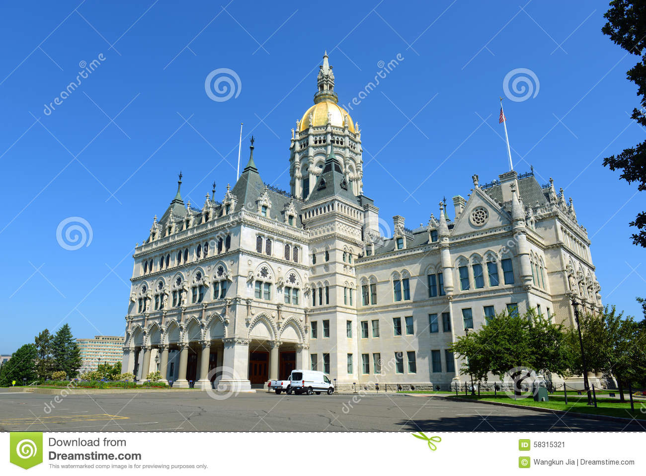 Connecticut State Capitol Hartford CT USA Stock Photo Image - Ct state in usa