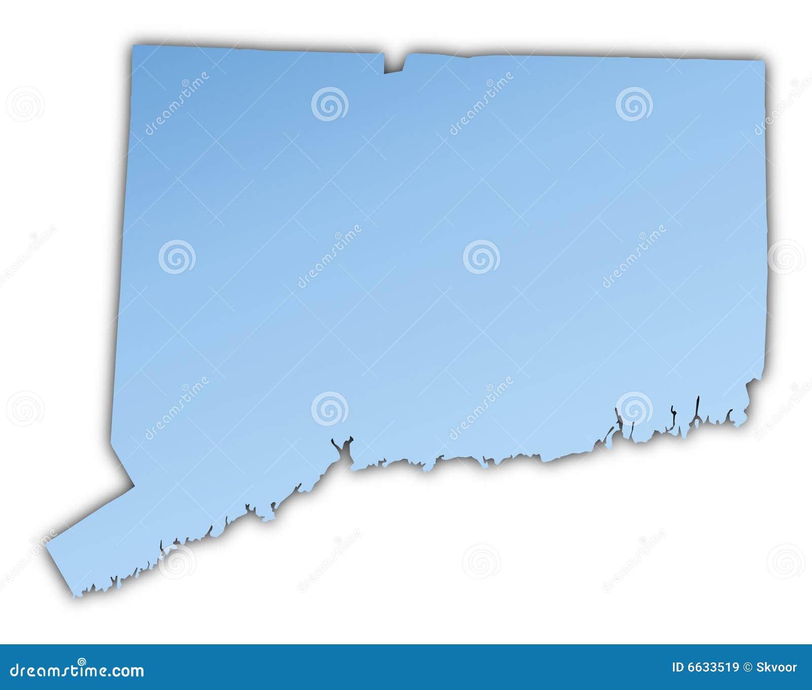 Connecticut(USA) map stock illustration. Illustration of connecticut ...