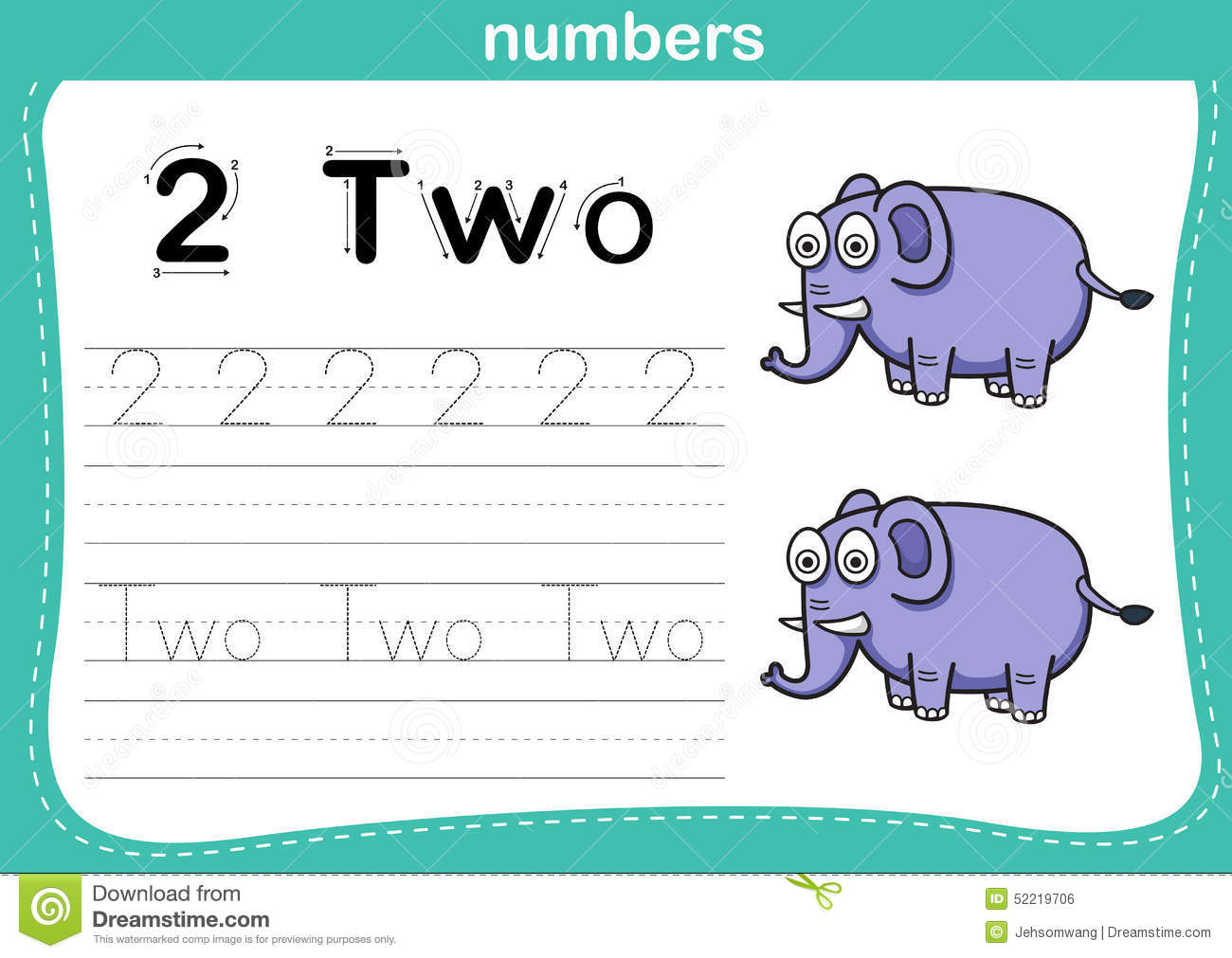 Connecting Dot And Printable Numbers Exercise Stock Vector