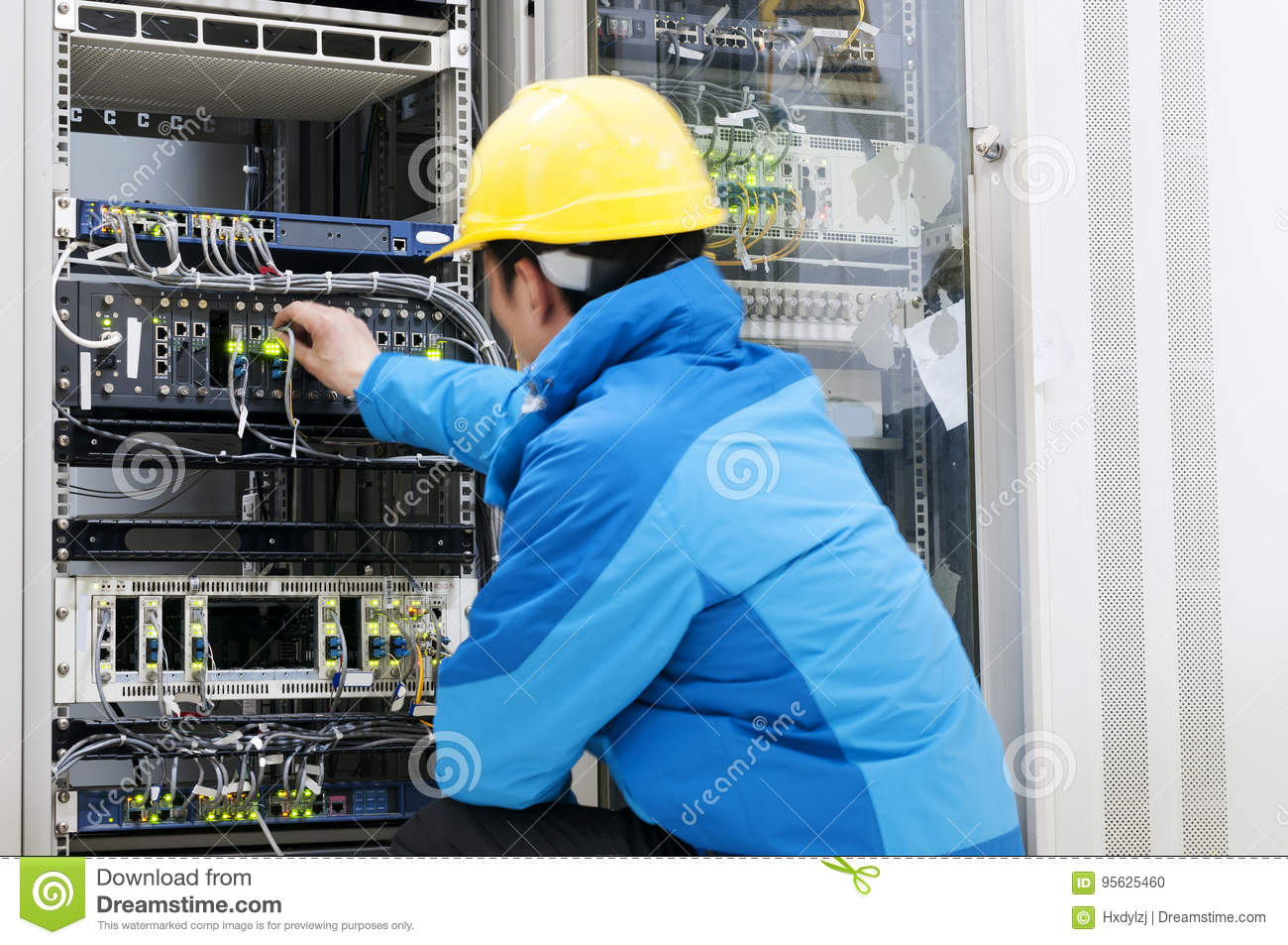 connecting network cables to switches