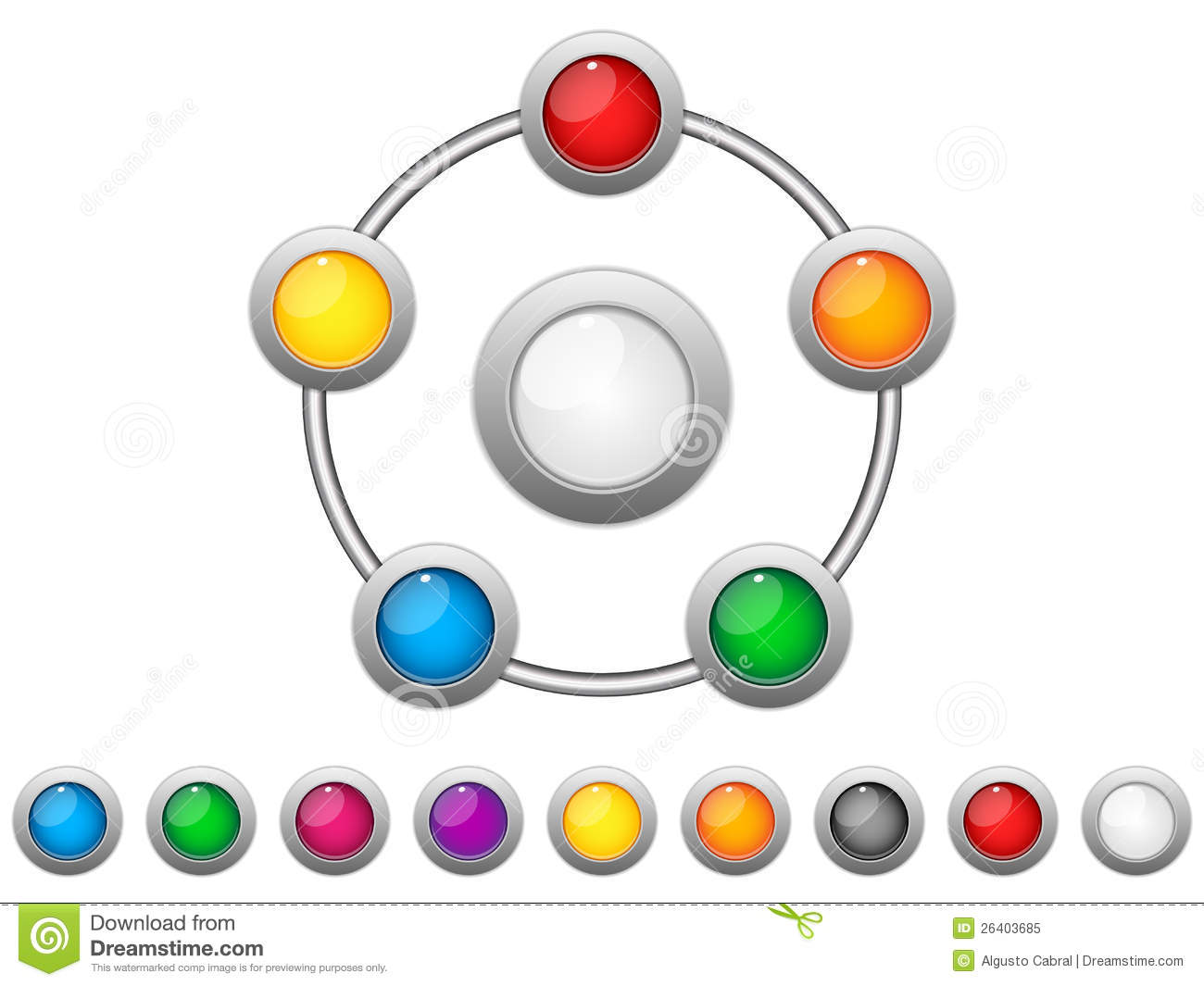 Connection Dots Colorful Circles Royalty Free Stock Photo ... Colorful Connections