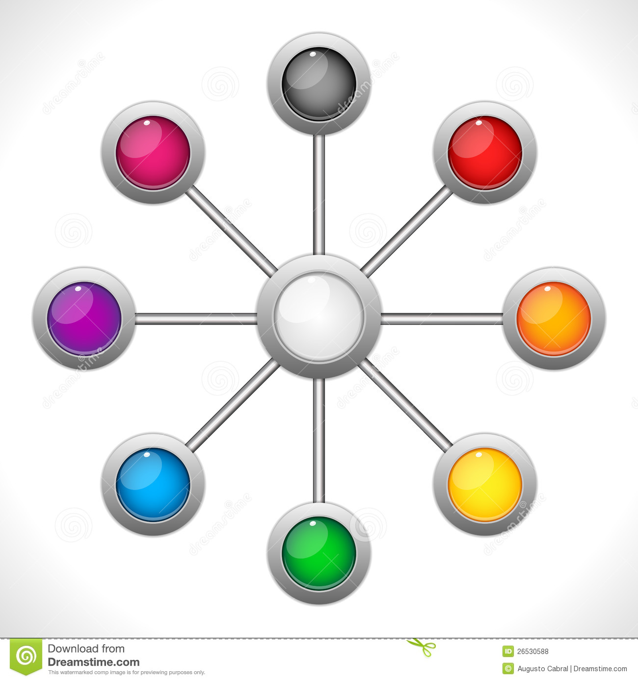 Connection Dots Colorful Circles Royalty Free Stock Photos ... Colorful Connections