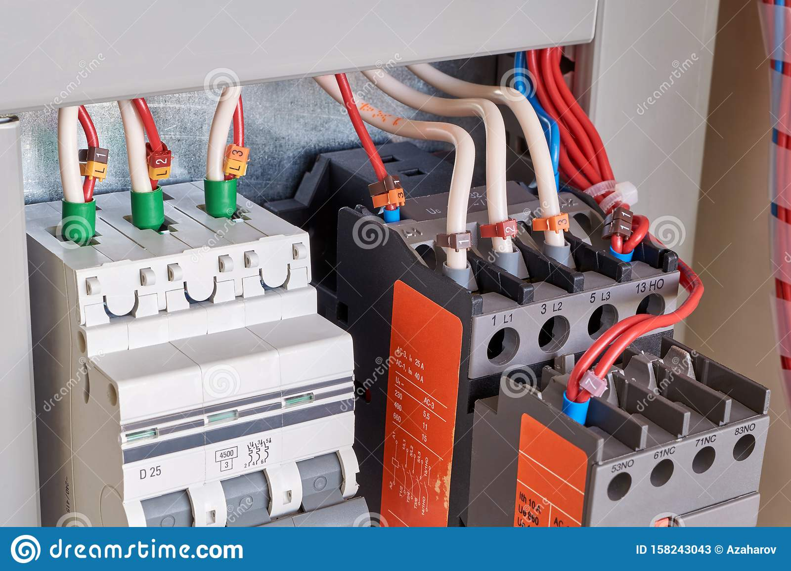 Connection Of Electrical Wires To The Circuit Breaker And ... on motor capacitor wiring, 3 phase ac motor wiring, motor overload wiring, interlock 480v motor wiring, stepper motor wiring, motor lead wiring, motor control wiring, starter wiring, motor plate wiring,