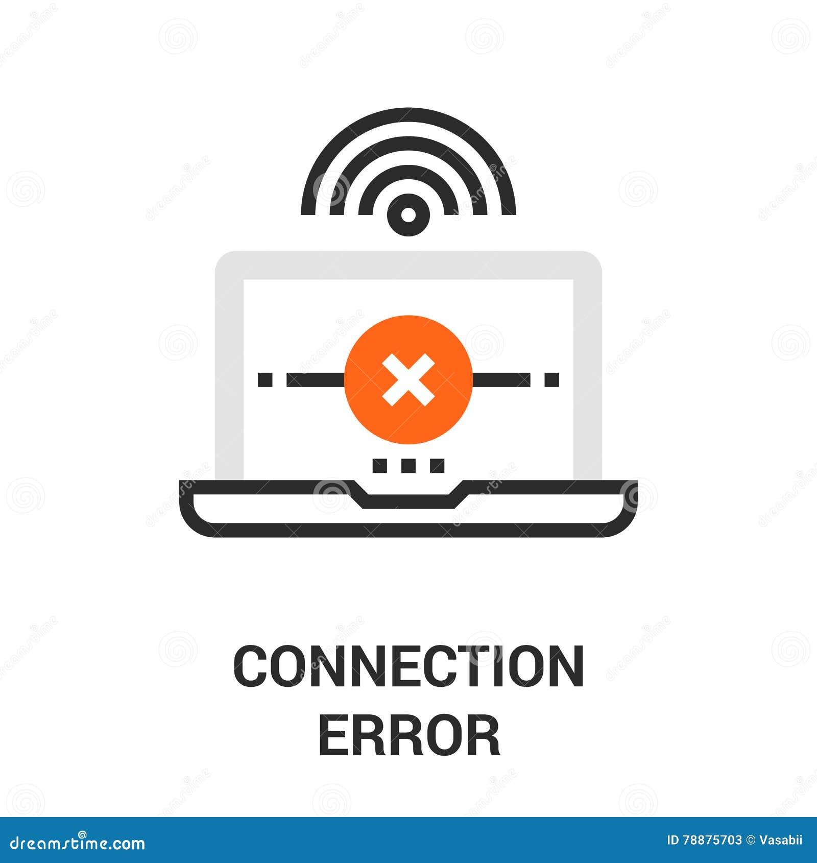Connection error icon stock vector. Image of fail ...