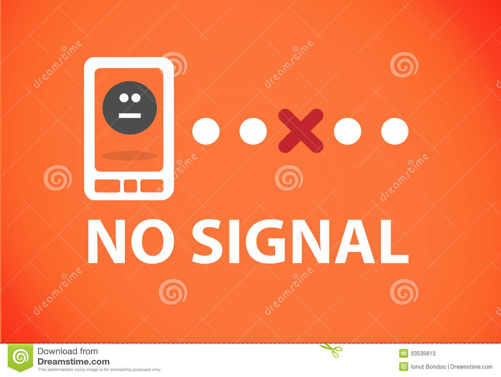 Phone no signal stock illustration  Illustration of business - 33535613