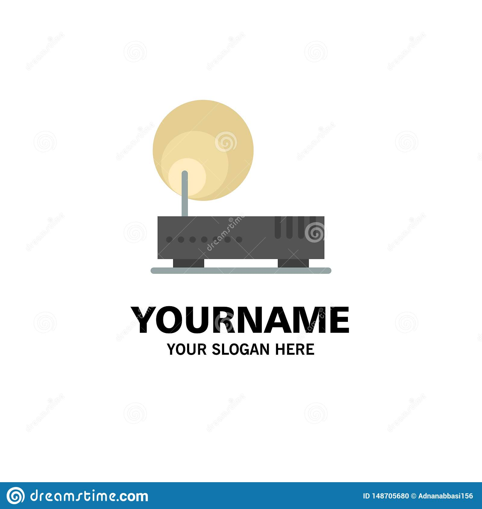 Connection, Hardware, Internet, Network Business Logo Template. Flat Color