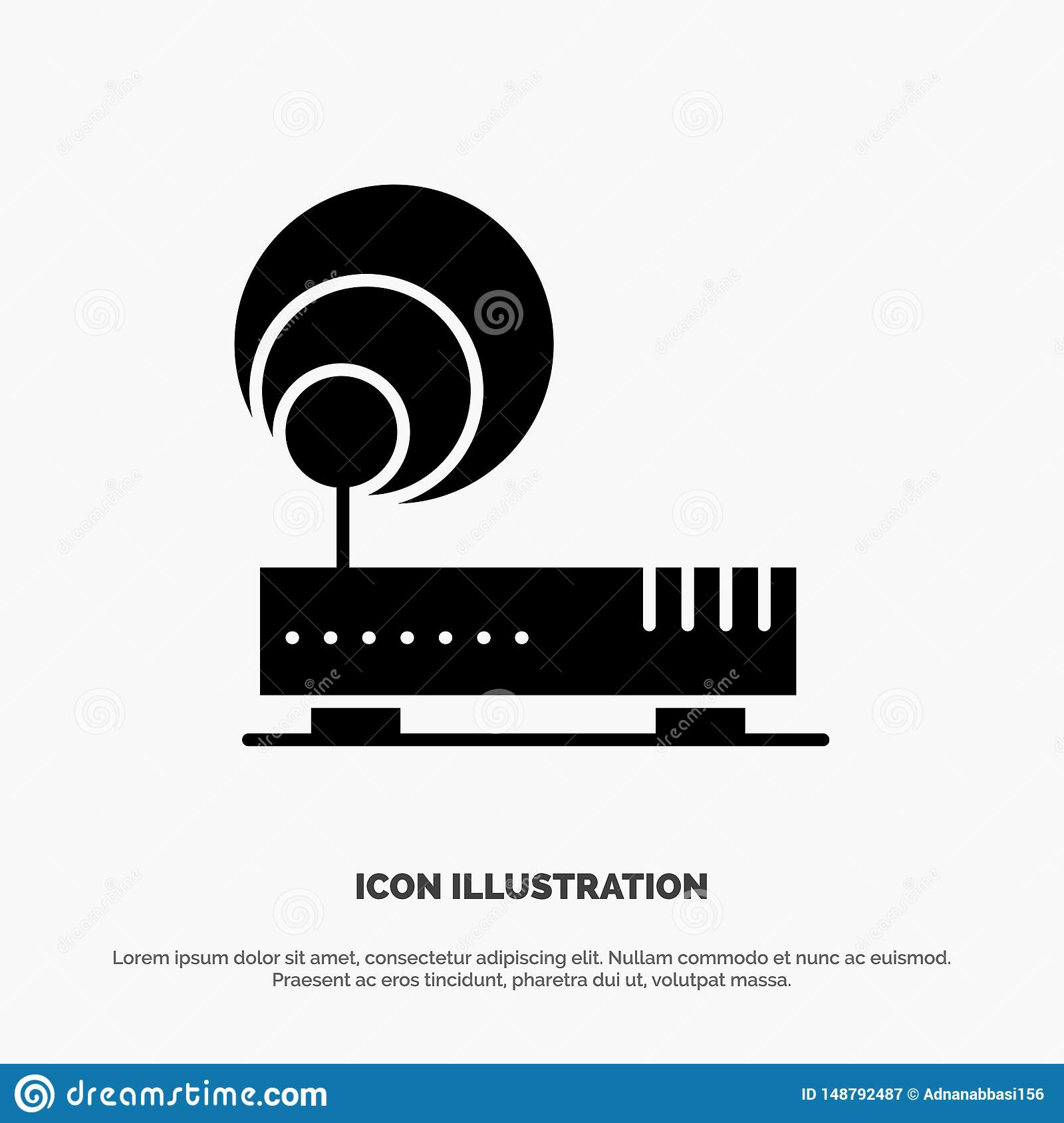 Connection, Hardware, Internet, Network solid Glyph Icon vector
