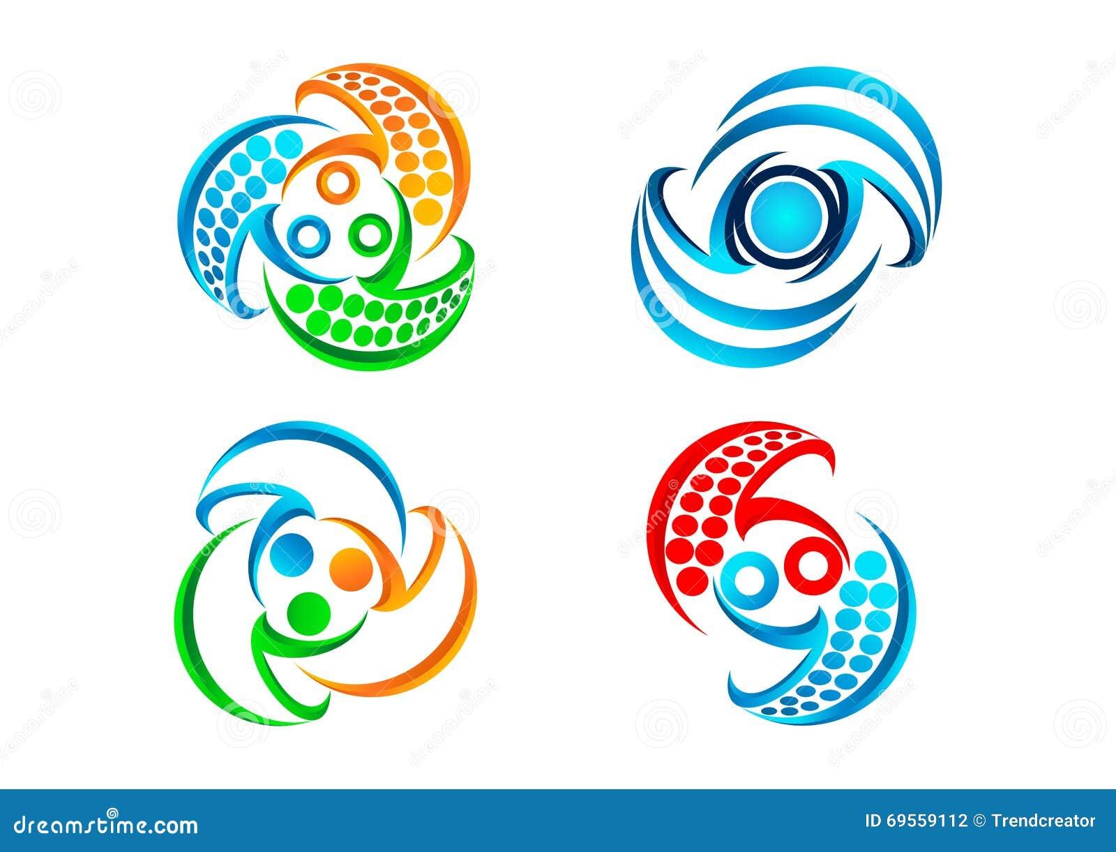 Connection logo,balance communication icon, modern technology symbol and teamwork concept design