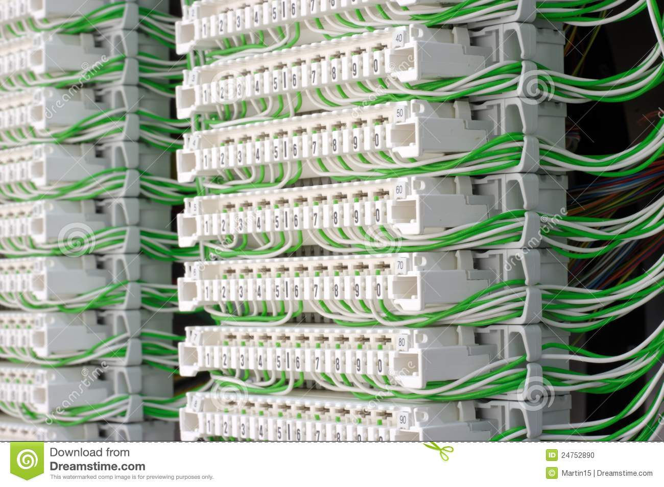 Telephone Cable Wiring Configuration Jumper Diagram Libraries Nte5 Linebox Instructions Connection Modules With Wires Stock Photo Image Of