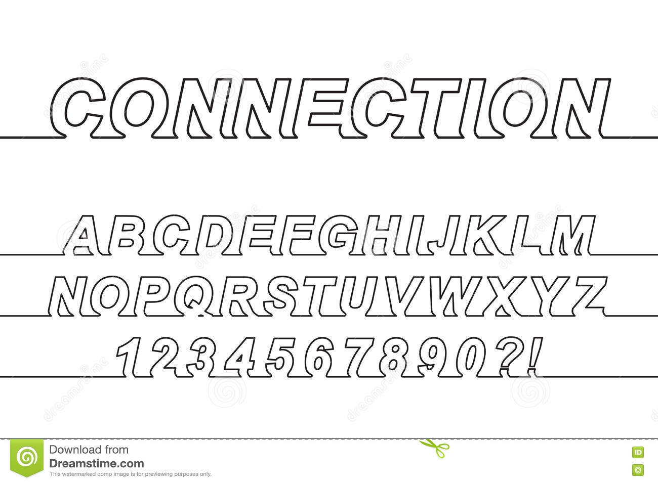 Connection one line font stock vector illustration of message connection one line font stopboris Images