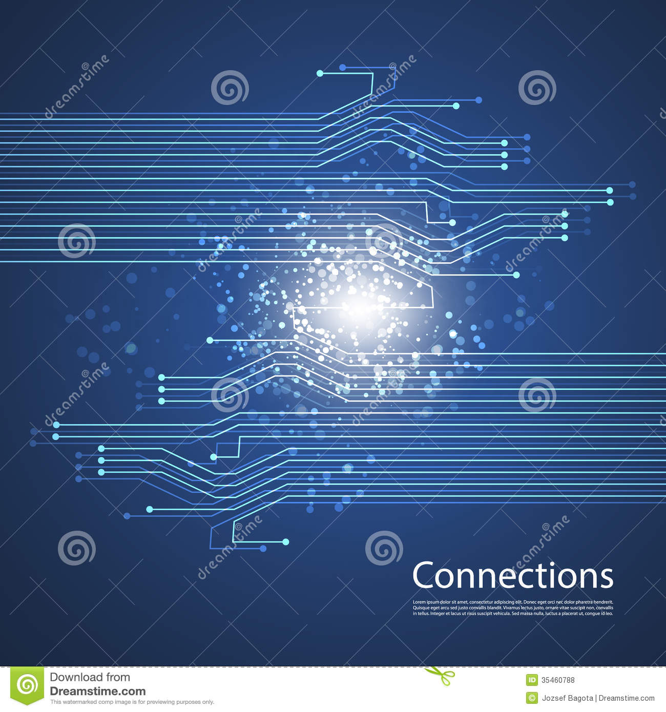 Connections networks graphic design stock vector image for Design teich
