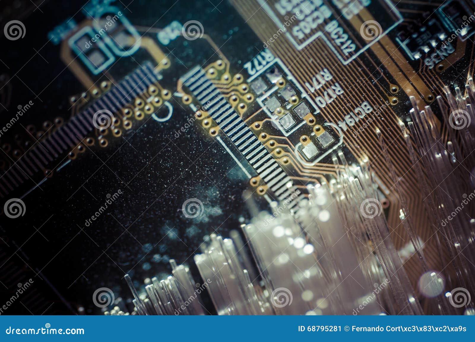 Connectivityfiber Optic Cables Fibre Connection Telecomunicat Fiber Optics Integrated Circuits Images Of