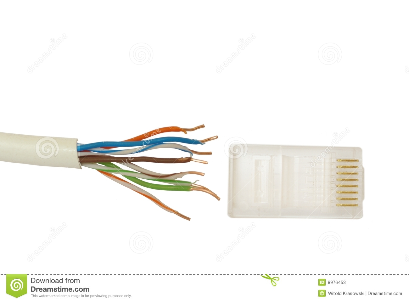 Superb Connector And Cable Internet Stock Image Image Of Internet Wires Wiring Database Gramgelartorg