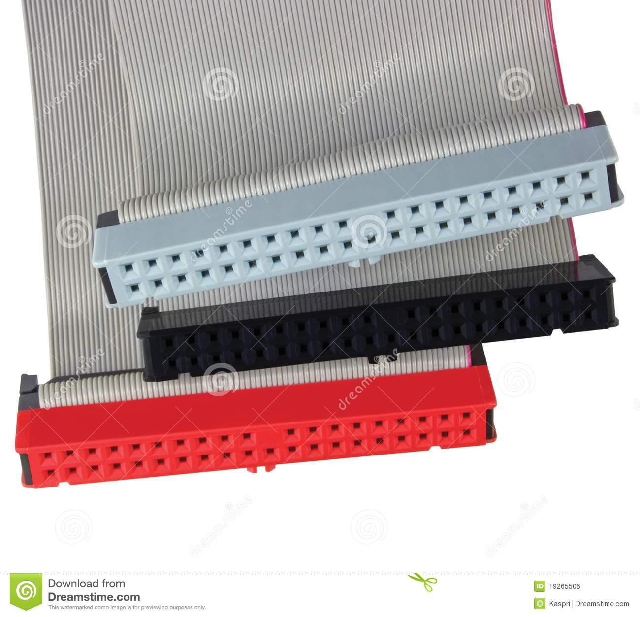 Electronic Ribbon Cable Connectors : Connectors ribbon cables for computer hard drive royalty
