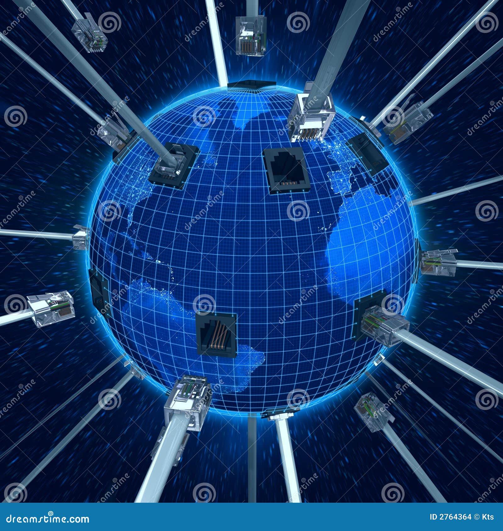 Connetta la terra del pianeta