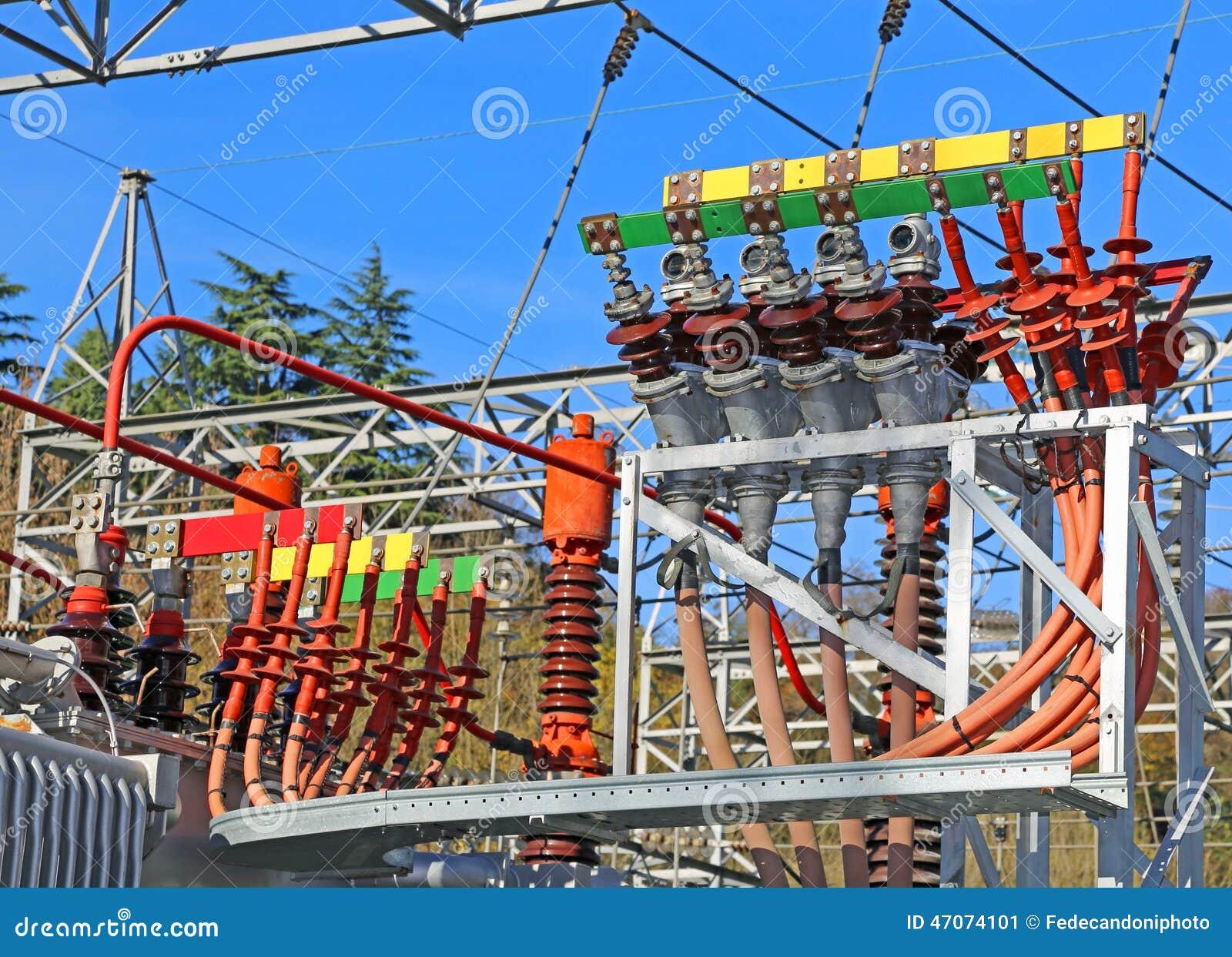 Connettori elettrici di grande potere a carbone