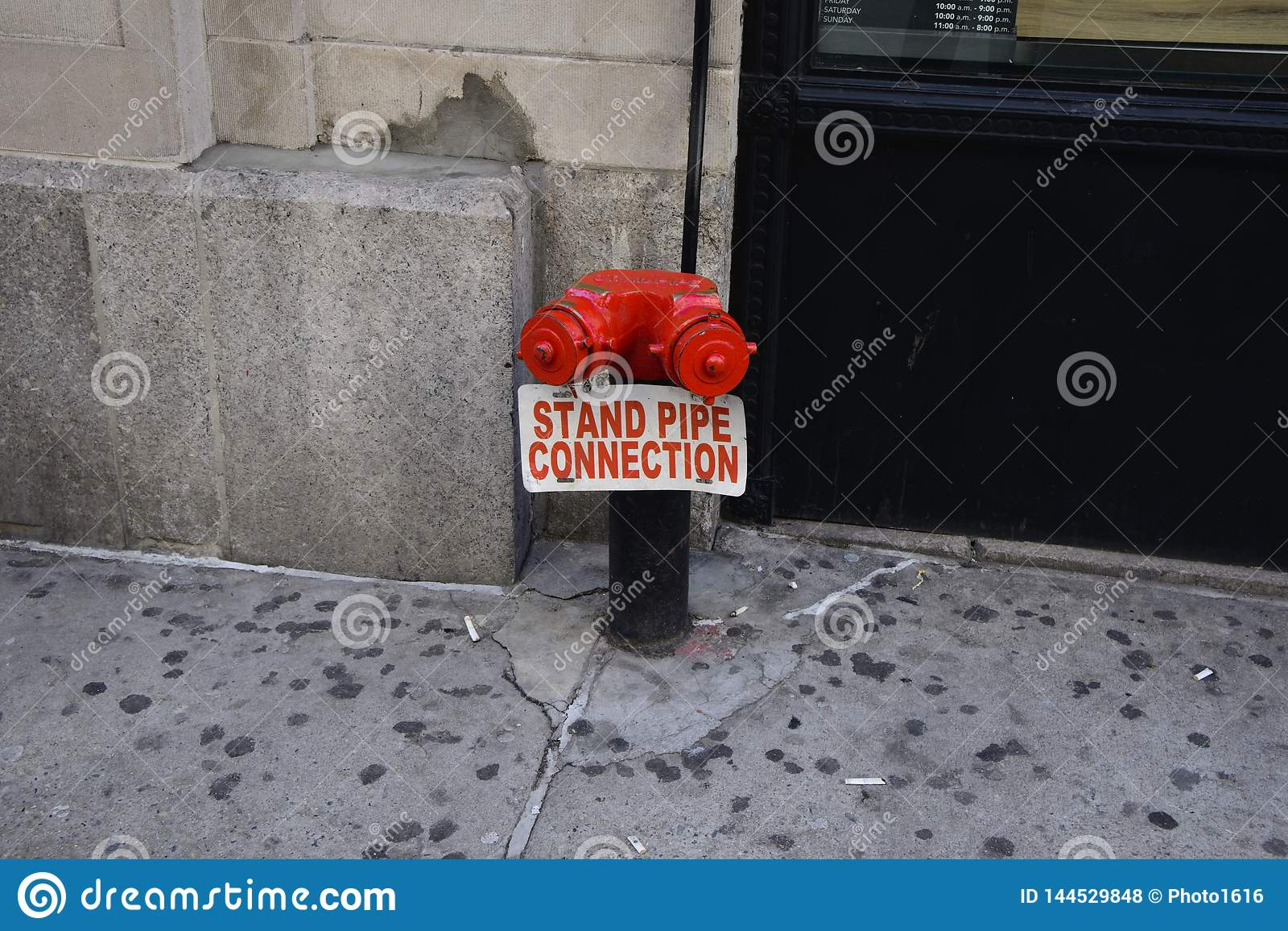 Connexion de tuyau de support