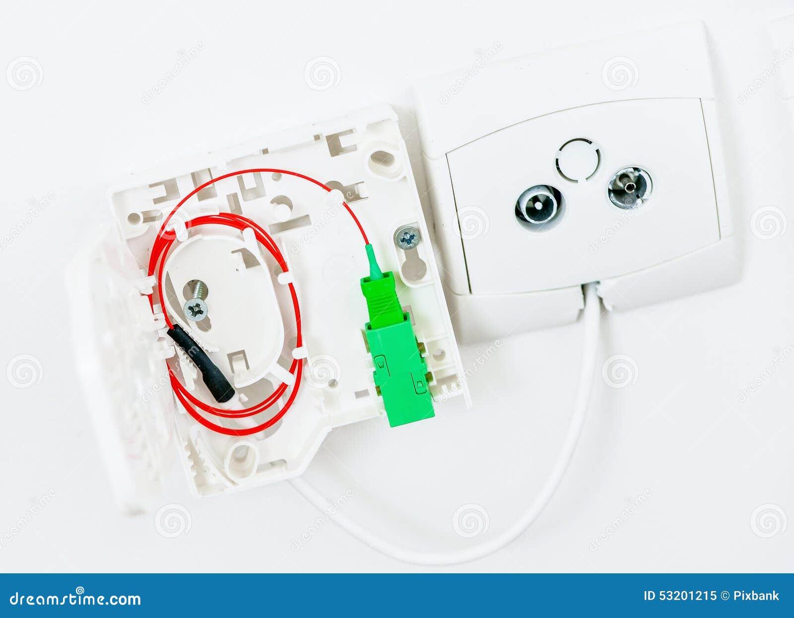 Connexion logeant la fibre optique image stock image for Qui installe la fibre optique