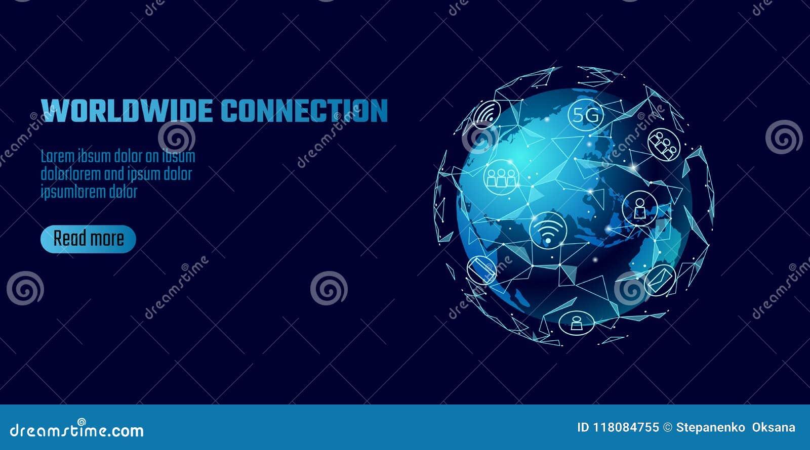 Connexion réseau globale Ligne continente affaires de point de l Asie de carte du monde d échange mondiales de dat de technologie