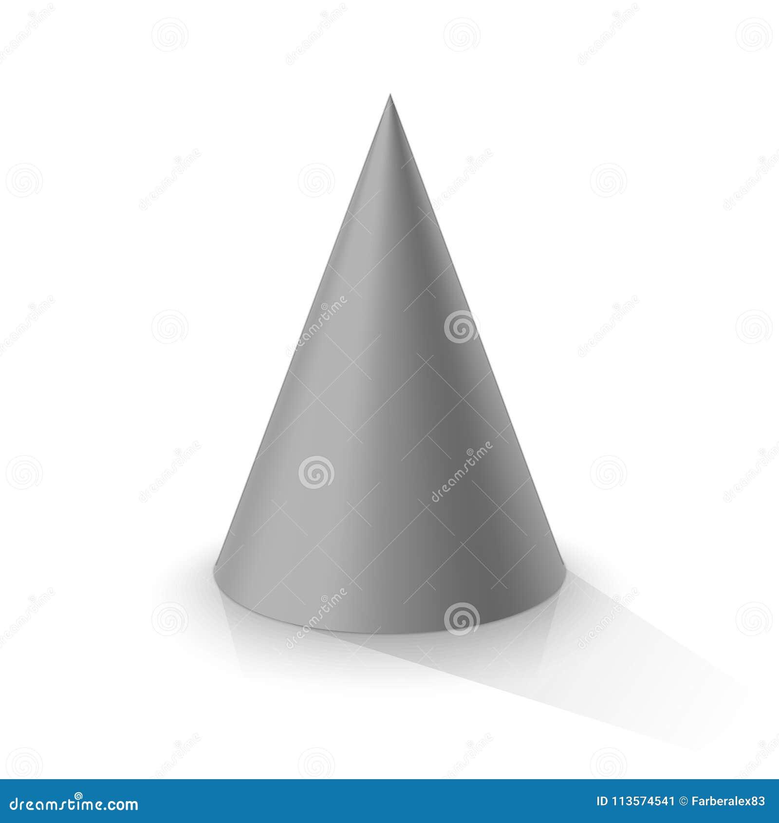 Cono grigio 3d