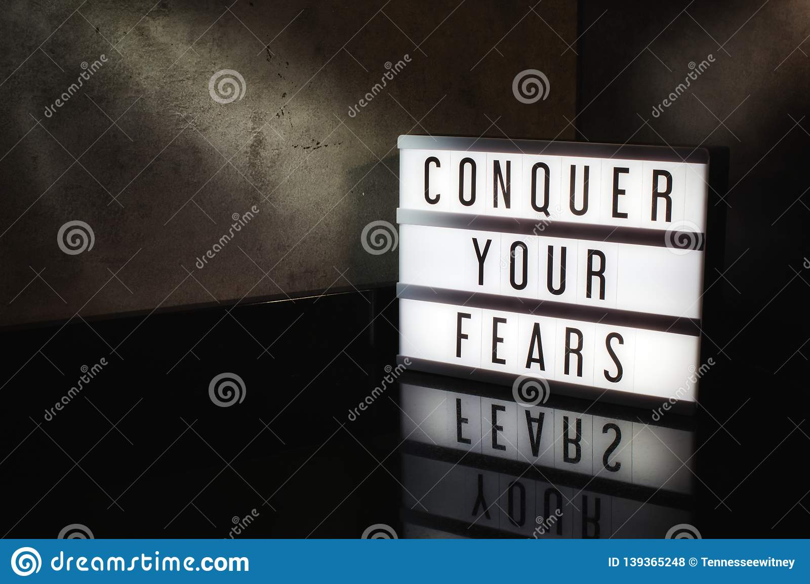 Conquer your fears motivational message