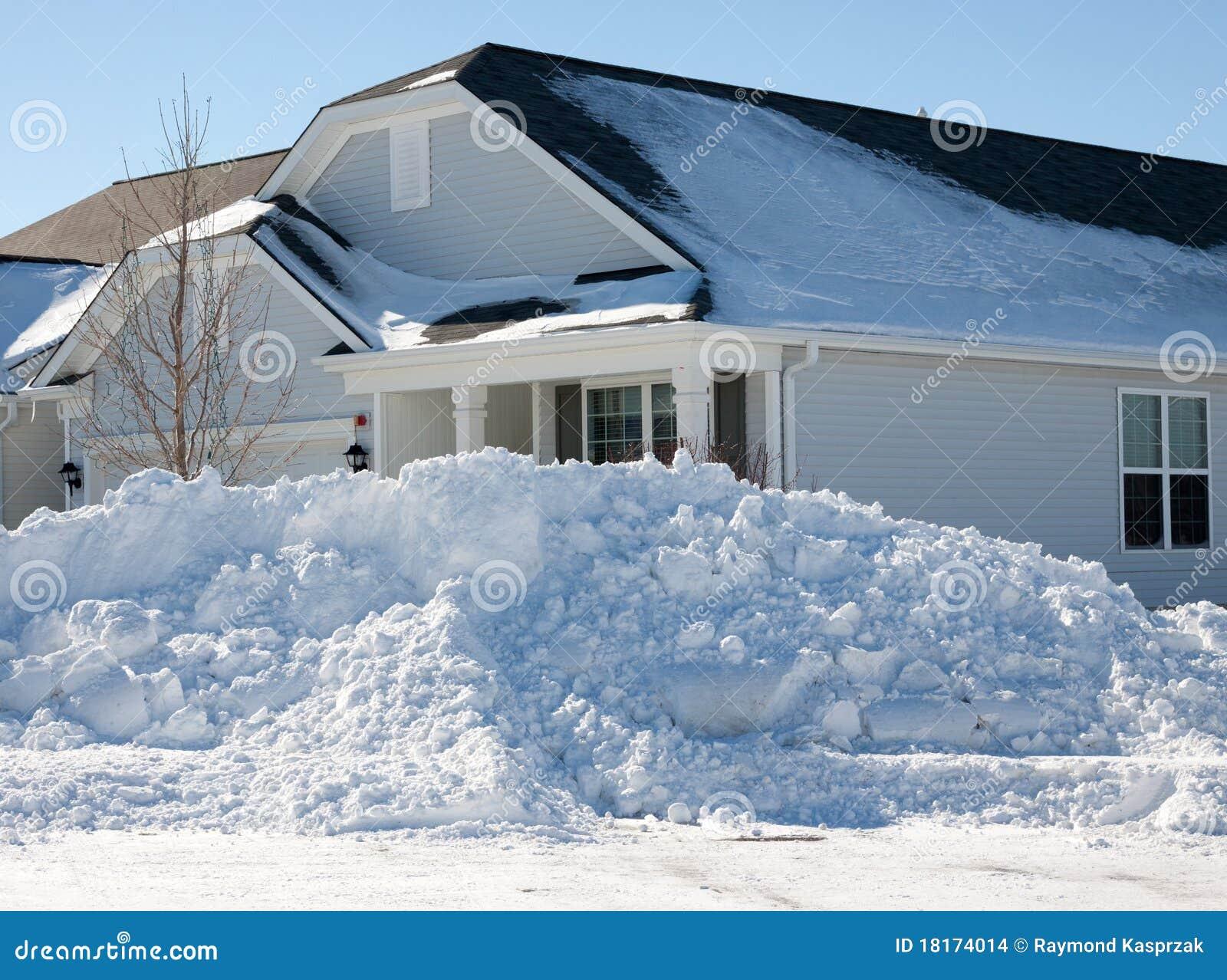 Conséquence de tempête de neige