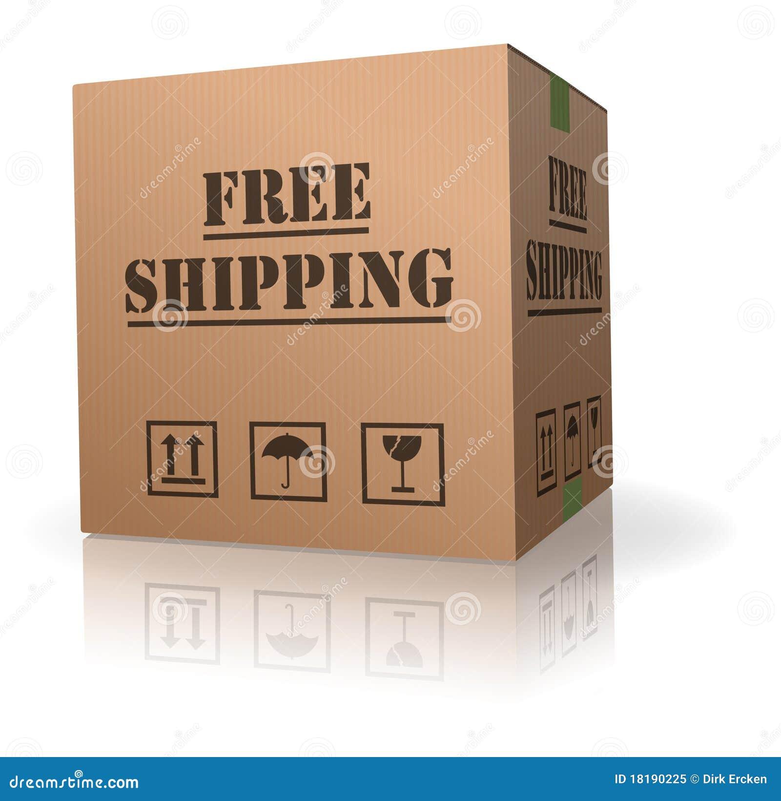 Consegna libera del pacchetto della scatola di cartone di trasporto