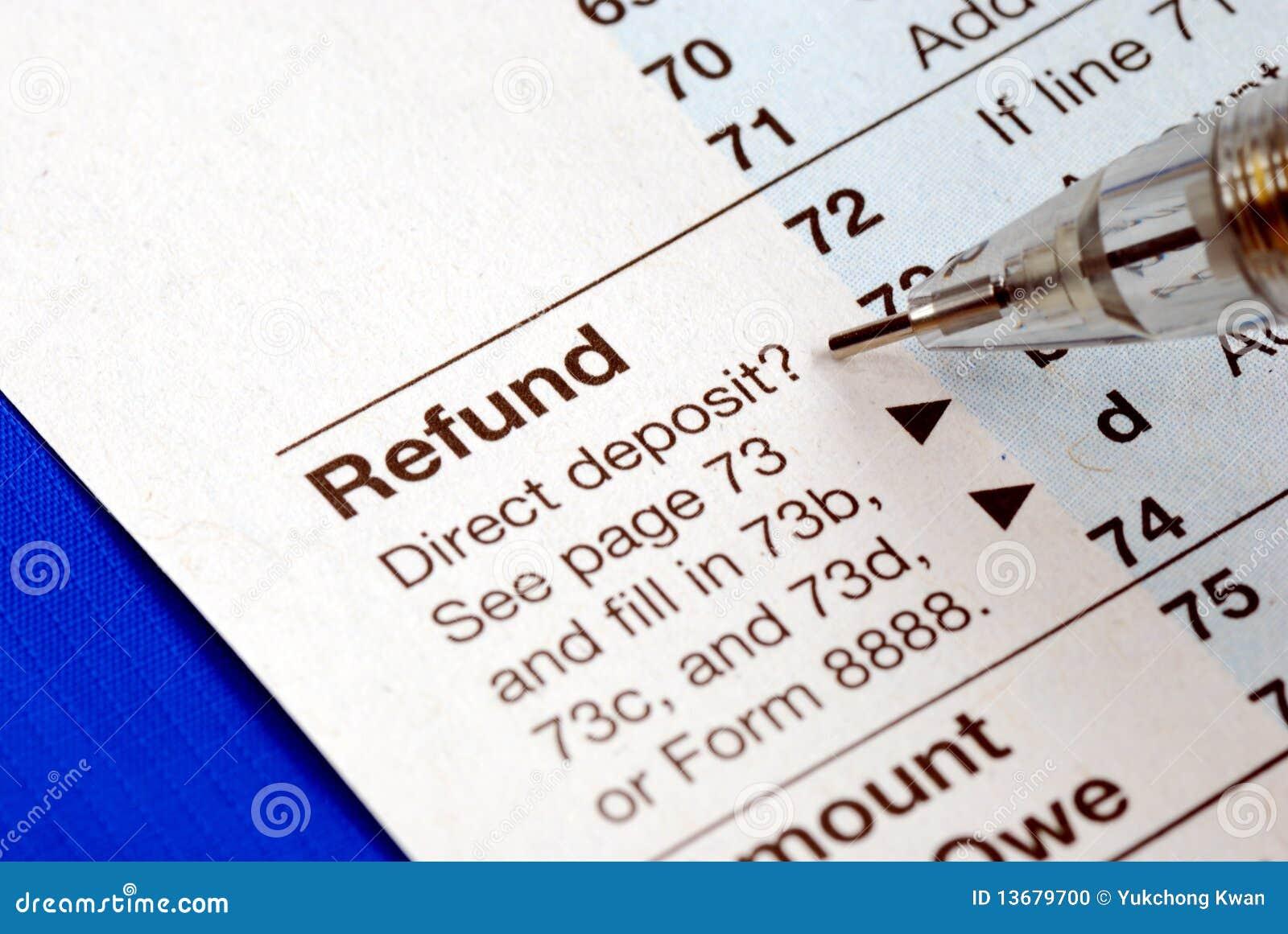 Conseguir reembolso de la declaración sobre la renta