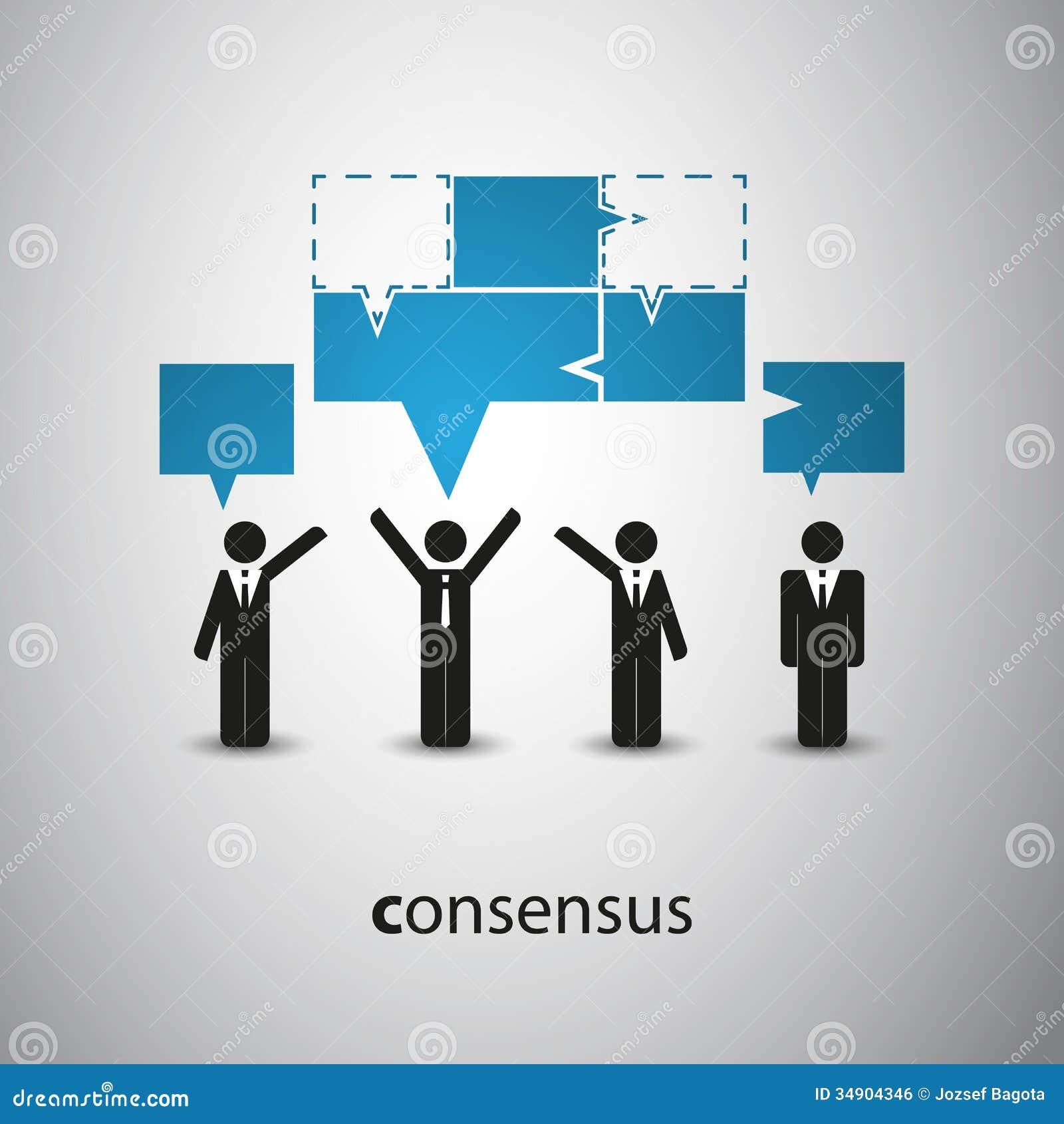 Consensus - Speech Bubble Concept Royalty Free Stock Image ...
