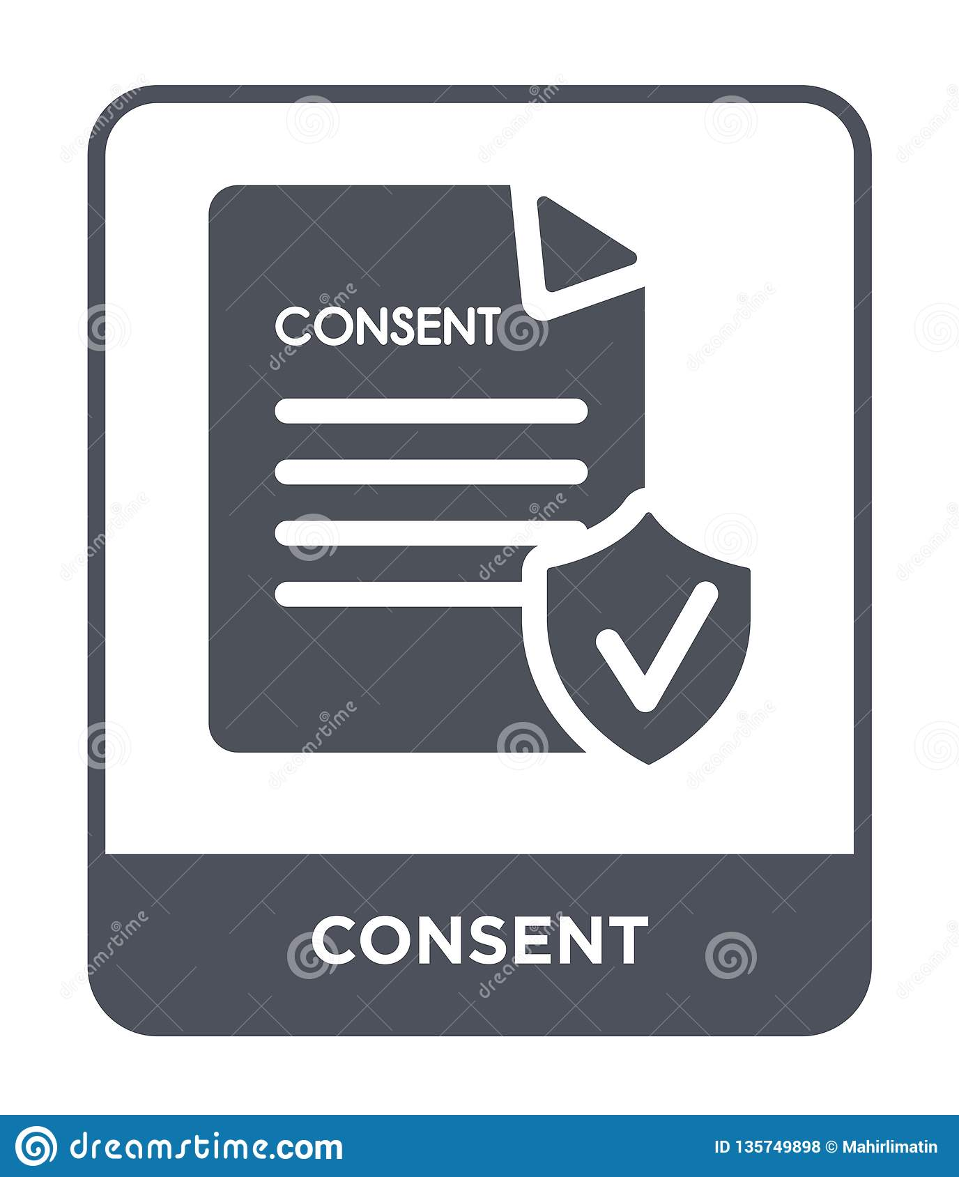 consent icon in trendy design style. consent icon isolated on white background. consent vector icon simple and modern flat symbol