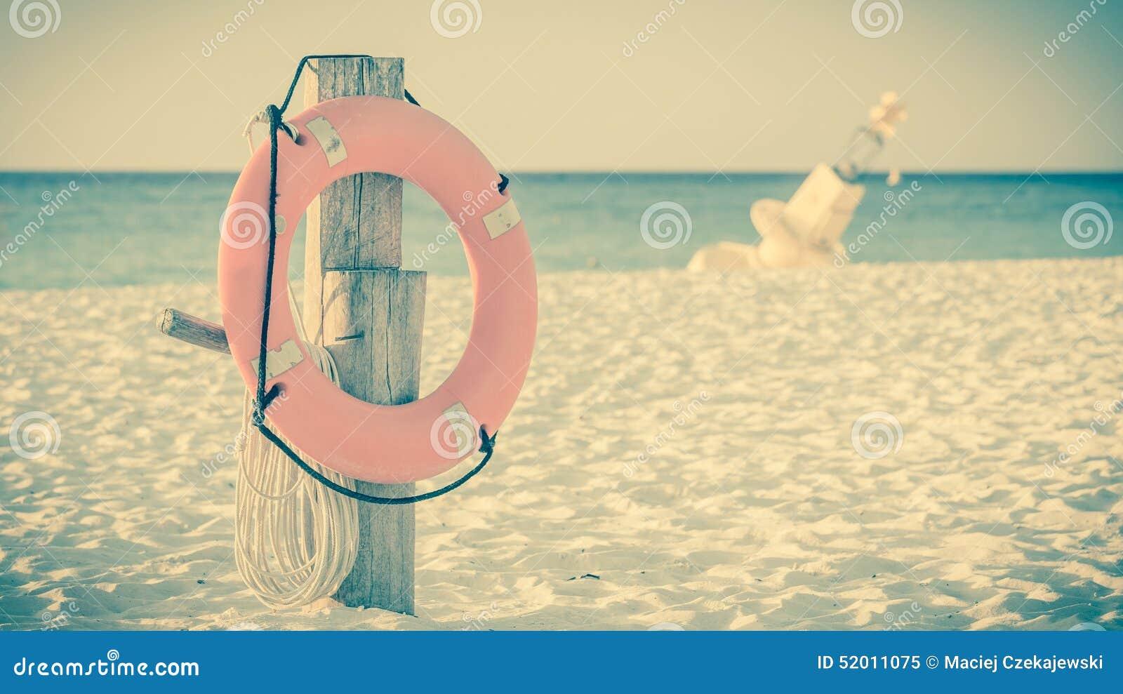 Conservante de vida no Sandy Beach