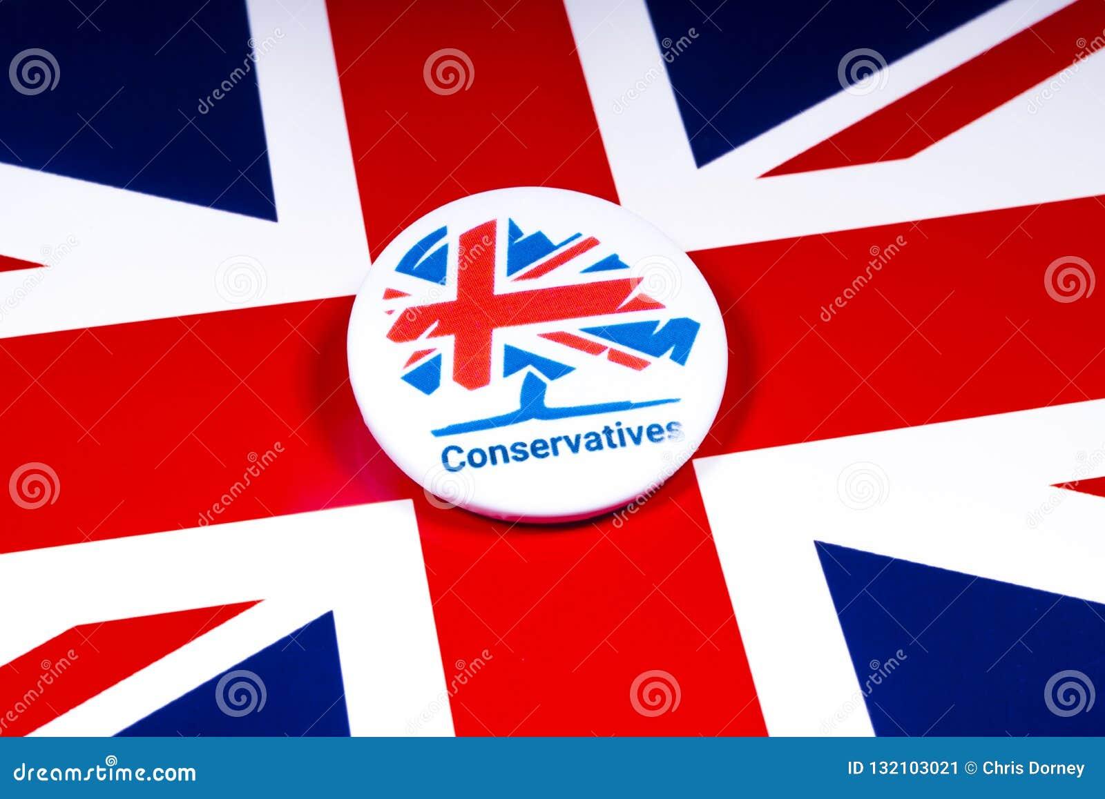 Conservatief Partijkenteken op de Britse Vlag