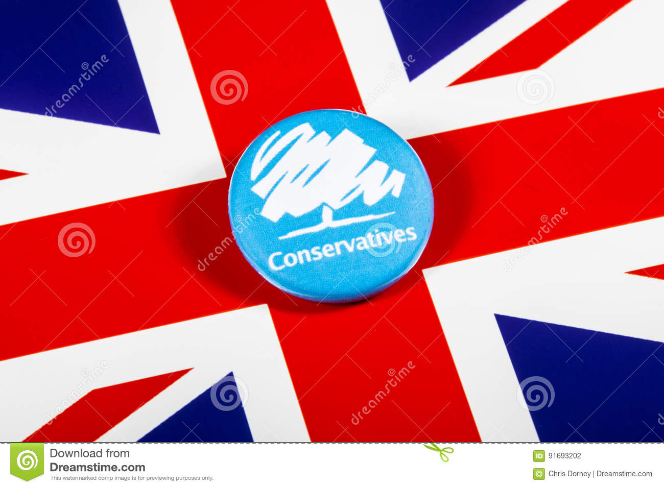 The Conservative Party Editorial Photography Image Of Badges 91693202