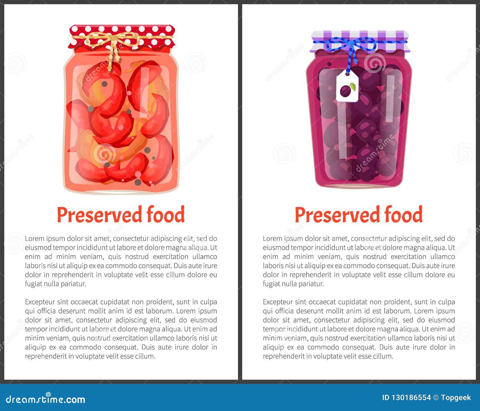 Conserve Ingeblikte Pruimen en Ingelegde Spaanse peper