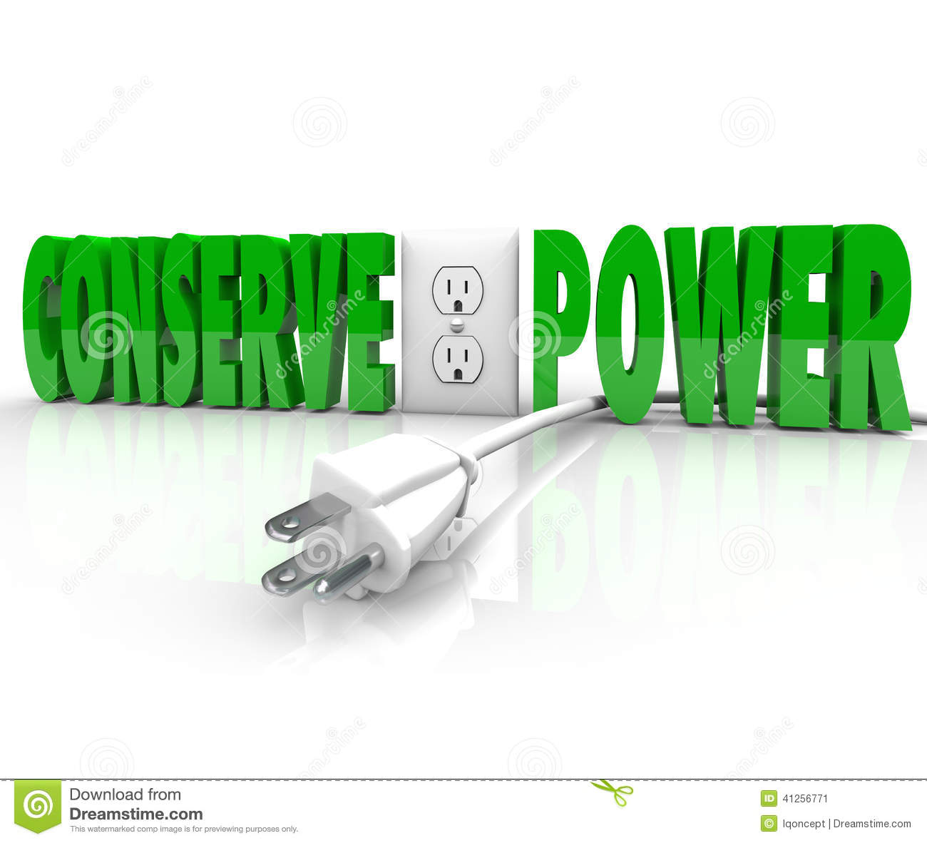 Conserve Power Electrical Cord Plug Save Energy ...