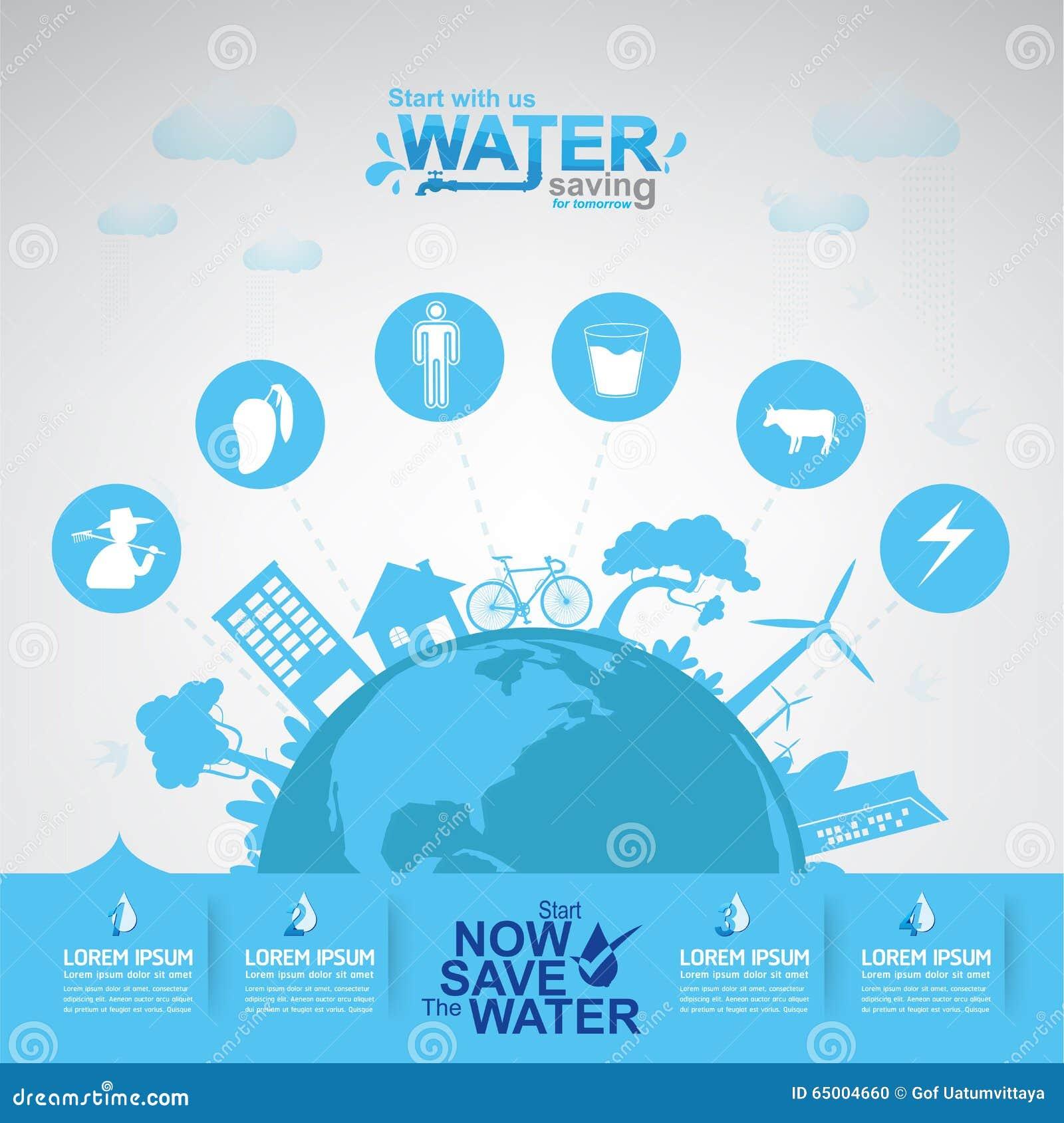Conservi l 39 acqua di vettore dell 39 acqua vita illustrazione vettoriale illustrazione di - Depurare l acqua di casa ...
