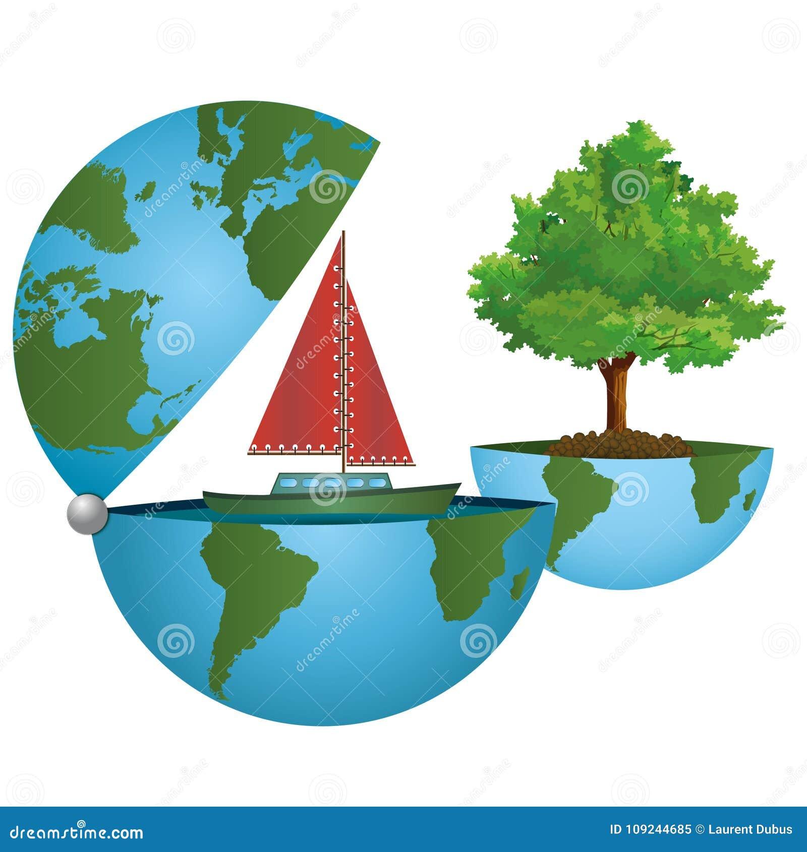 Conserviamo il pianeta un mondo verde su un concetto for Il verde mondo