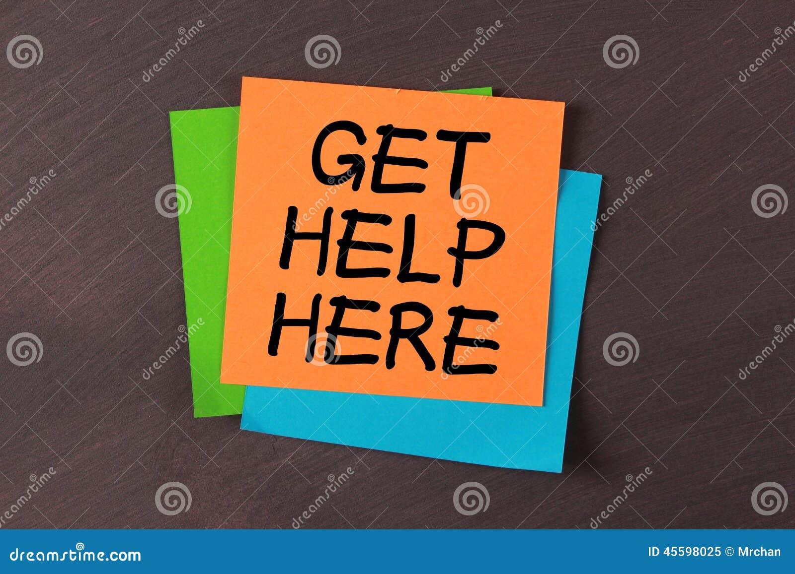 Consiga la ayuda aquí