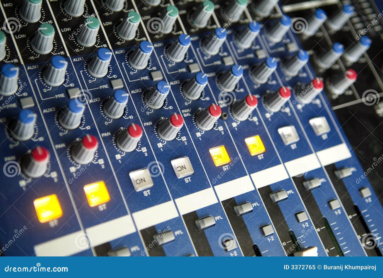 Consola de mezcla audio