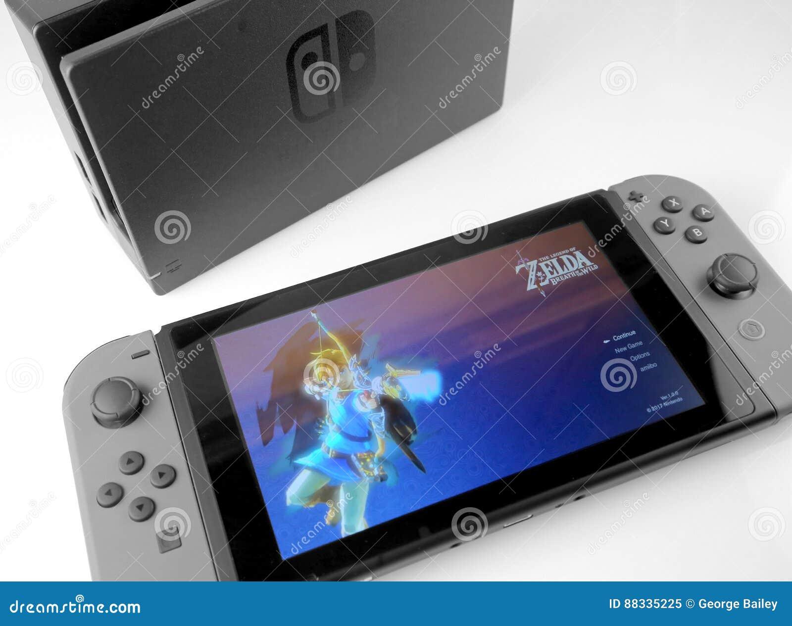 Consola del interruptor de Nintendo