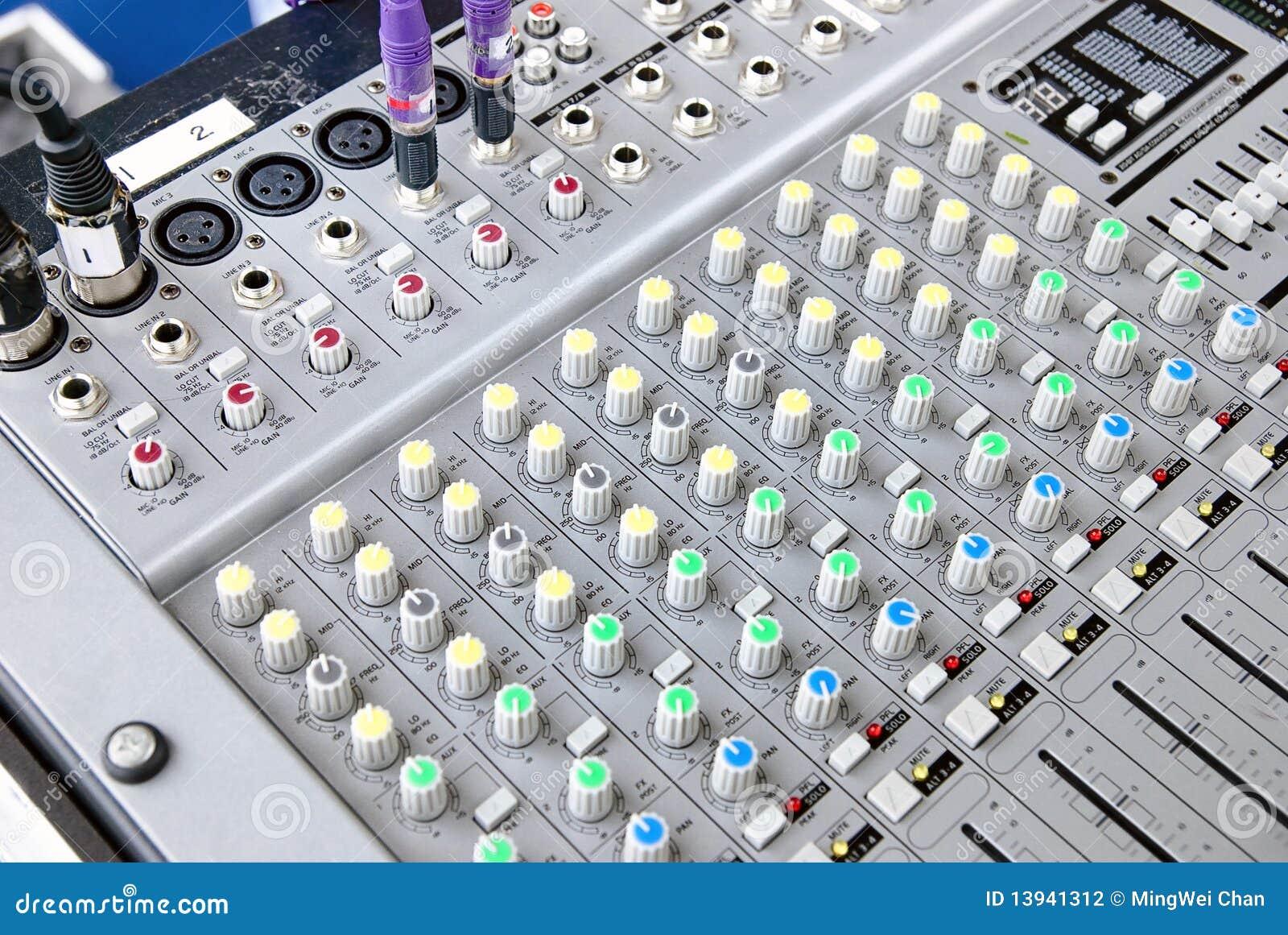 Consola del sistema de sonido