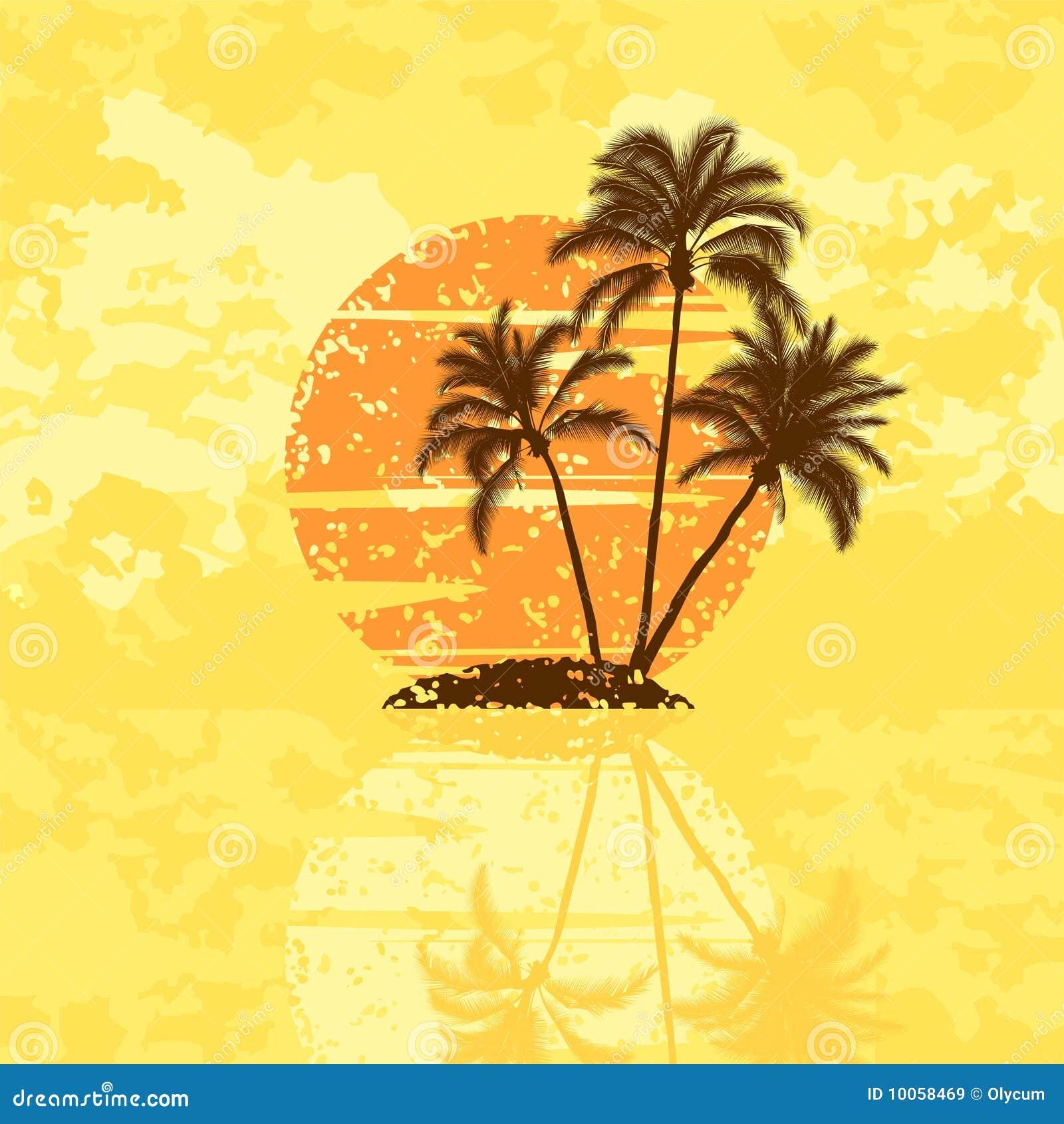 Console com palmeiras