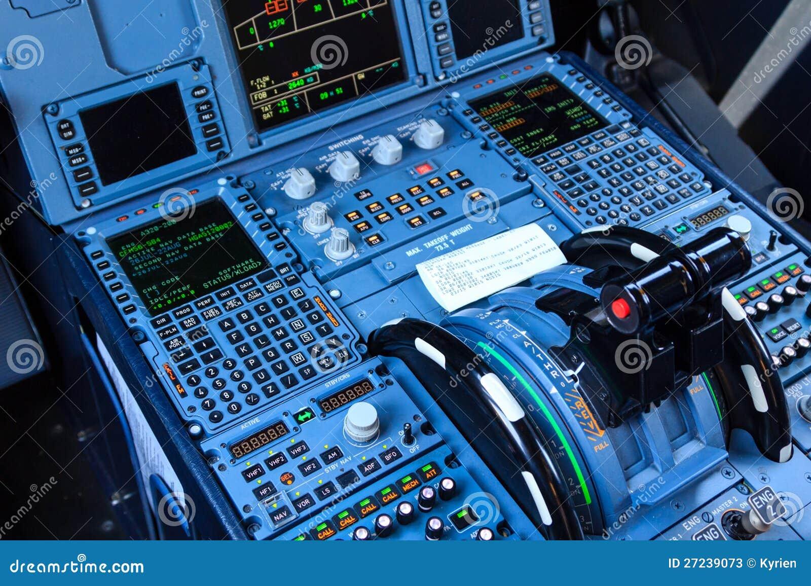 Console della cabina di pilotaggio fotografie stock for Planimetrie della cabina di log