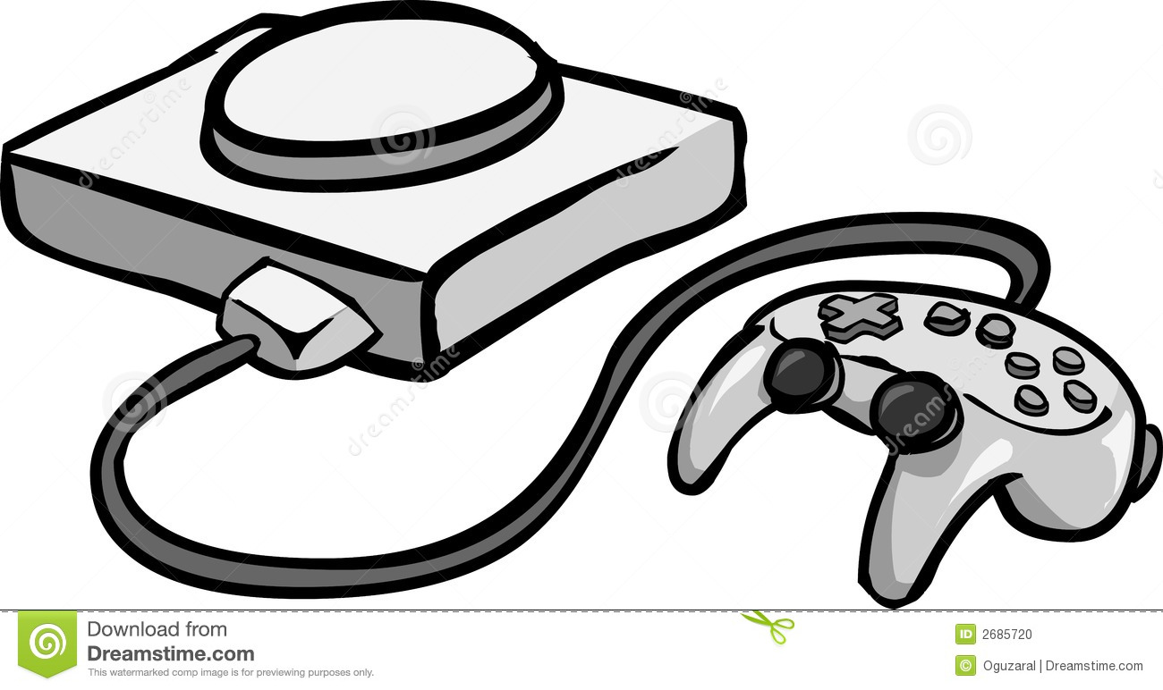 Vector illustration of a console game machine.