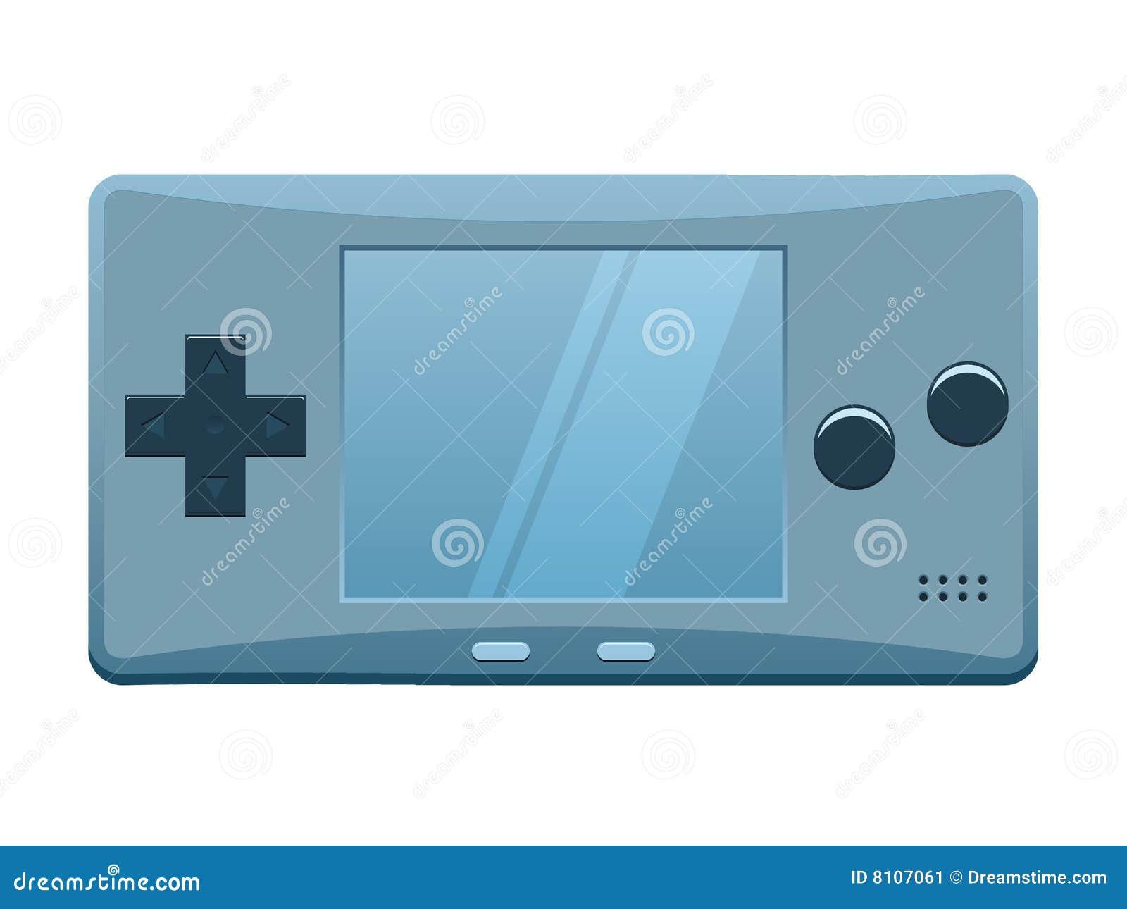 console portative de jeux image stock image 8107061. Black Bedroom Furniture Sets. Home Design Ideas