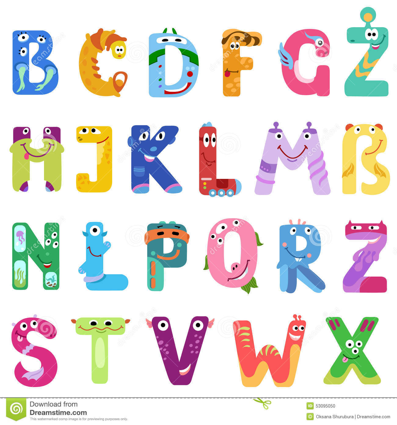 Funny Alphabet Letters Images