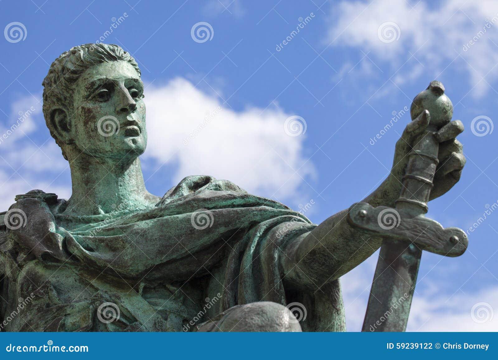 Download Constantine Statue en York fotografía editorial. Imagen de señales - 59239122