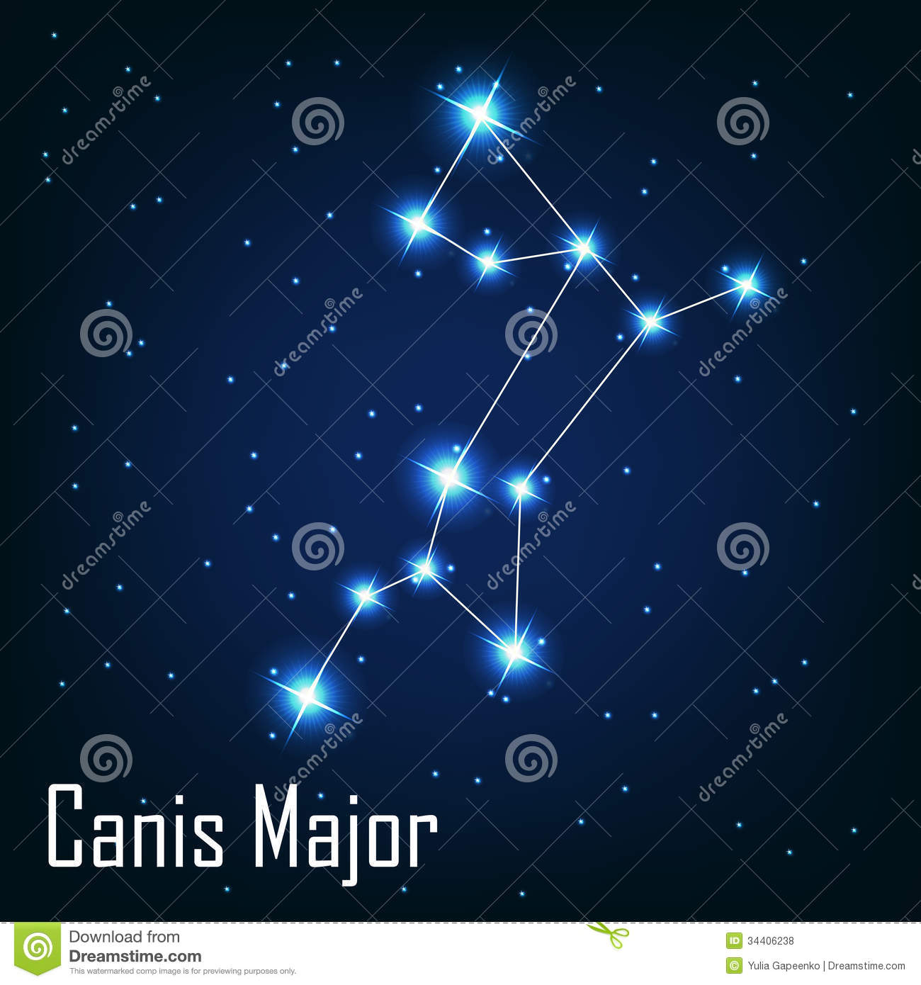 The Constellation Canis Major Star In The Night Royalty Free Stock Photos Image 34406238