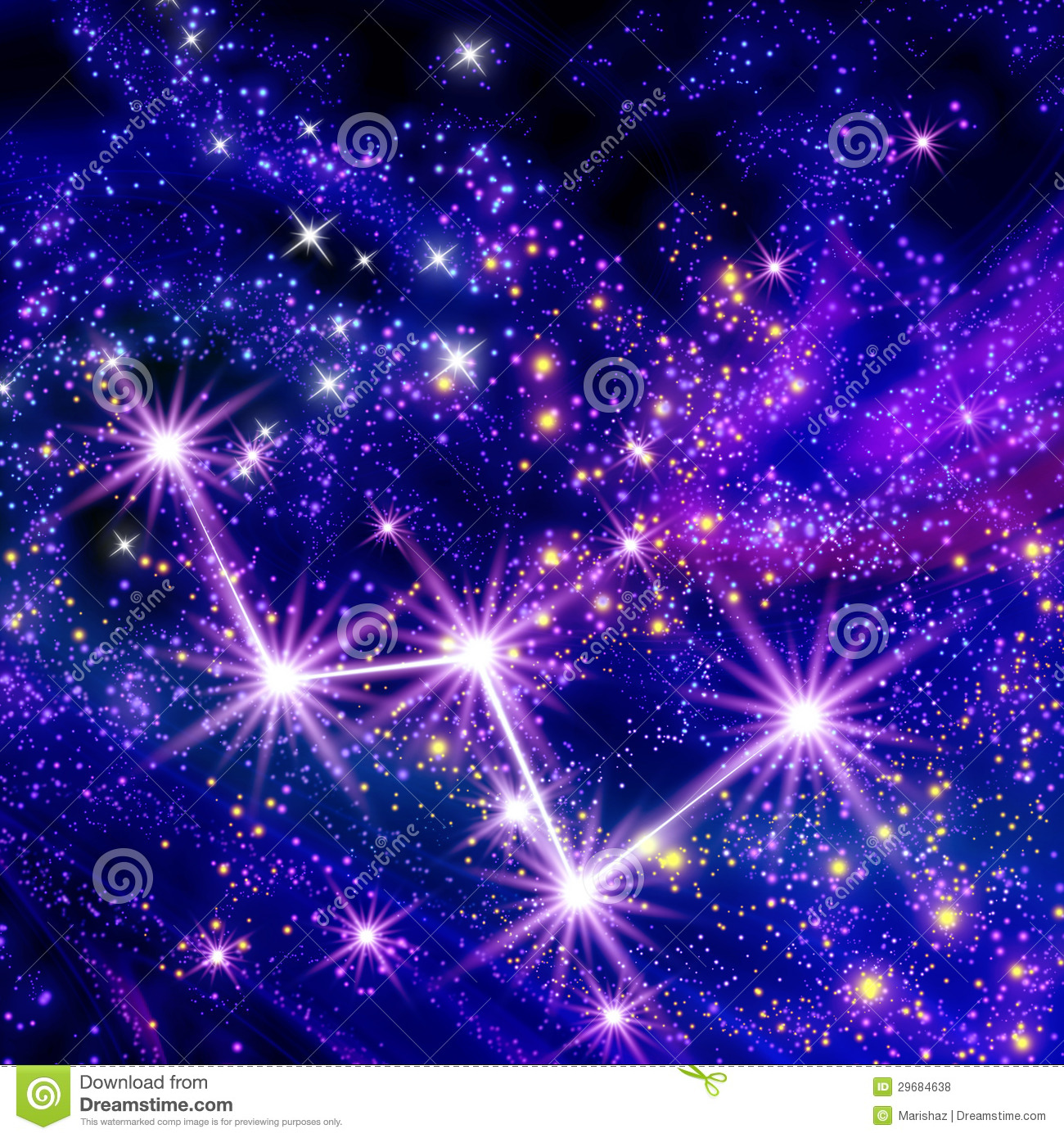 Constellation Cassiopeia Royalty Free Stock Photos